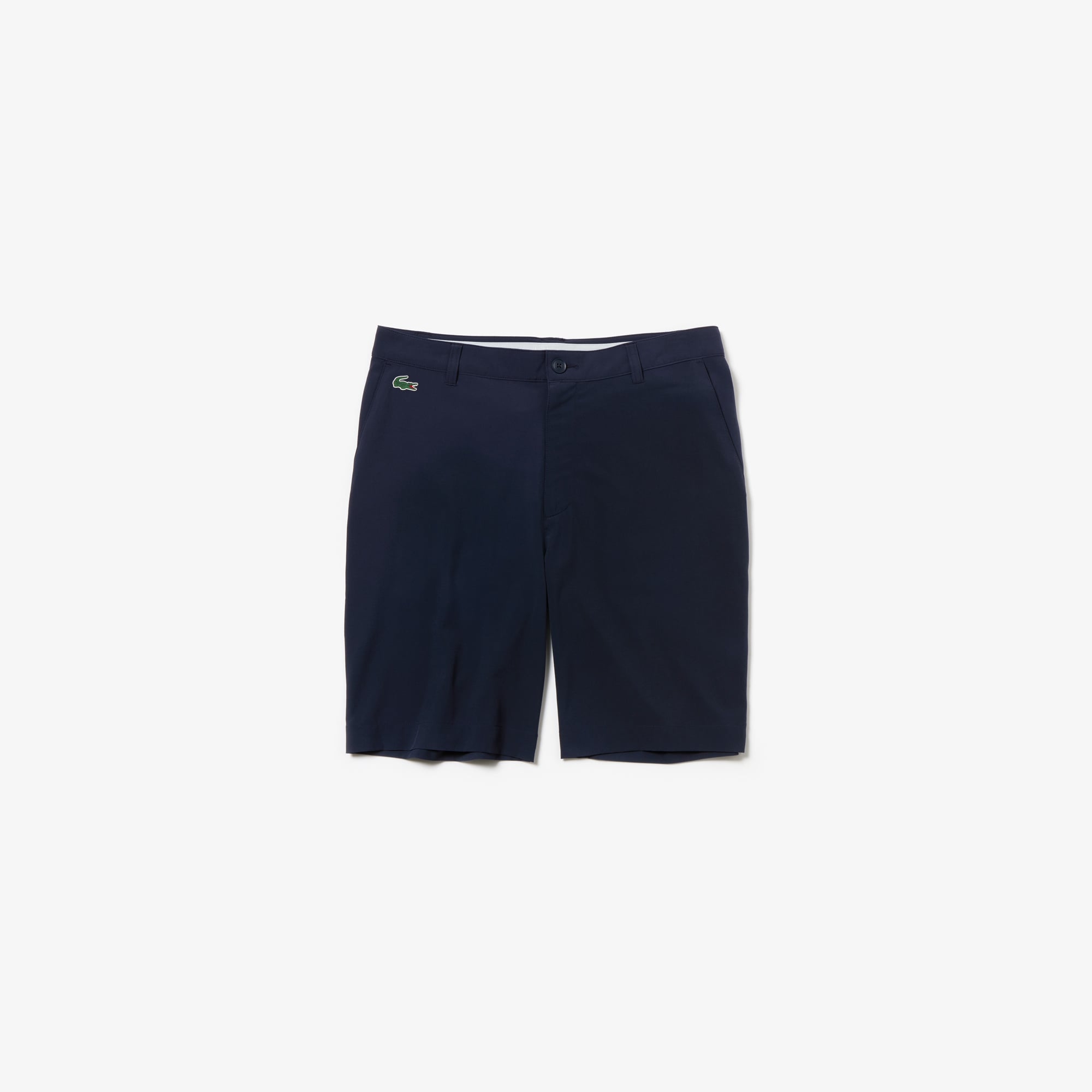 라코스테 Lacoste Mens SPORT Stretch Taffeta Technical Golf Bermuda Shorts,navy blue
