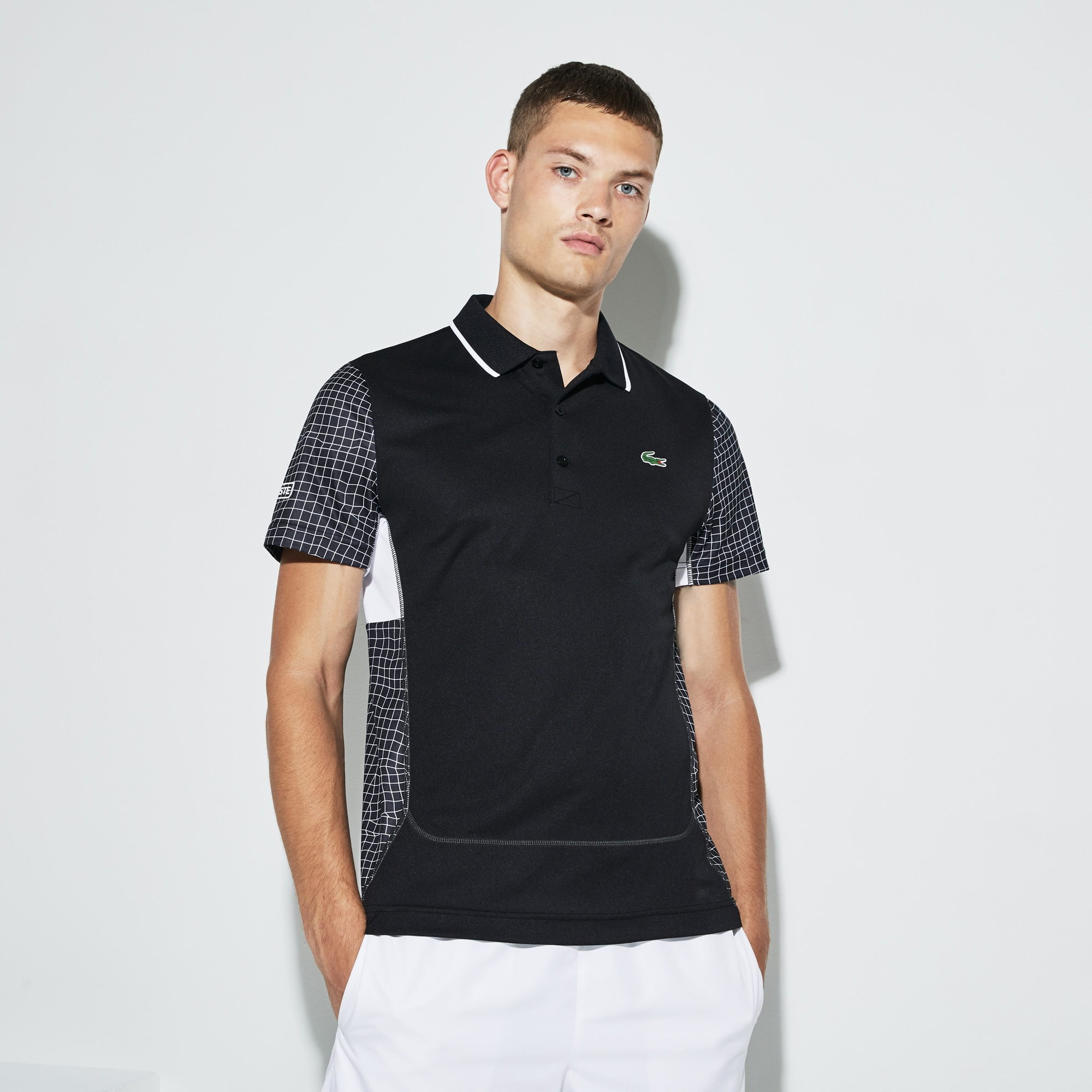 Men's SPORT Net Print Piqué Tennis Polo