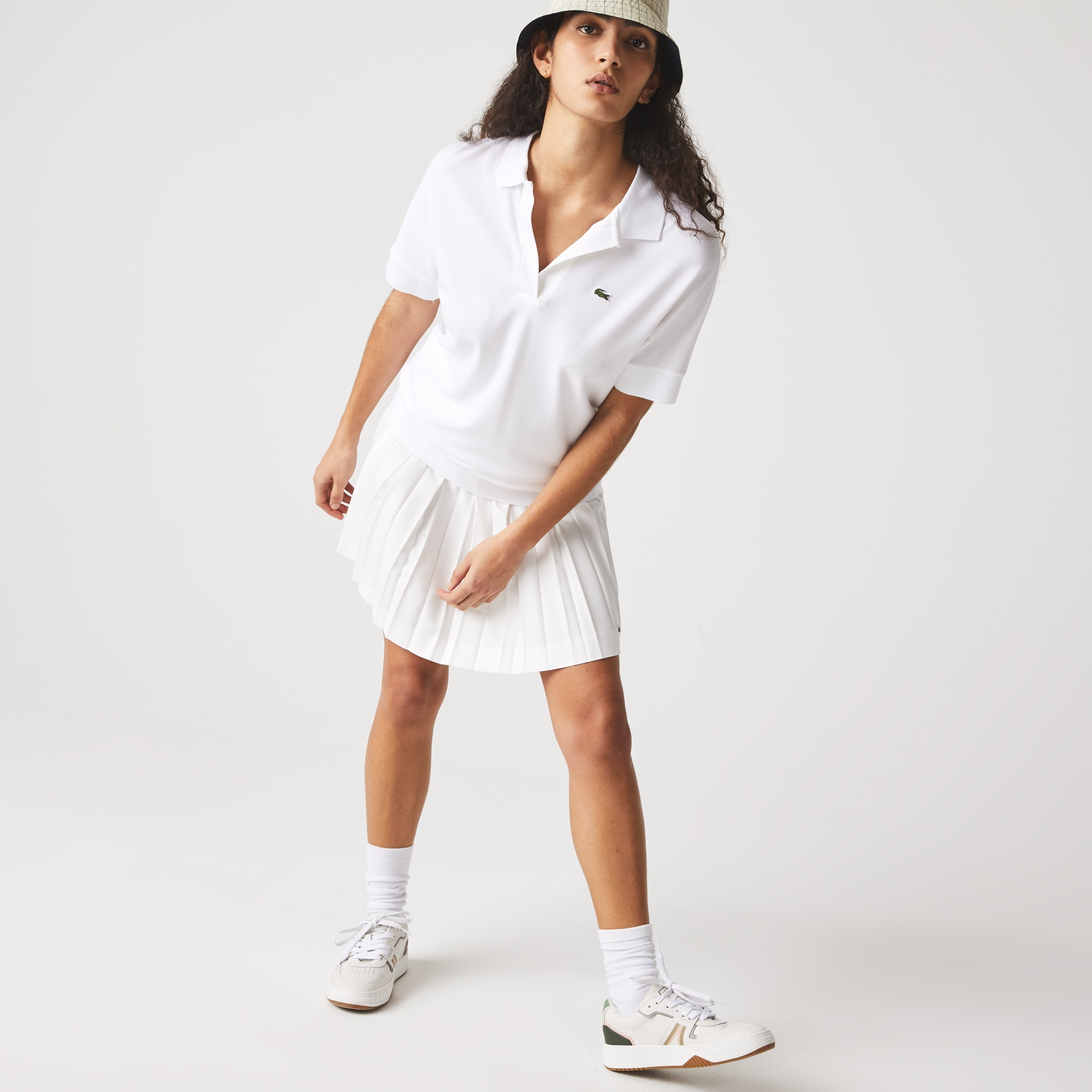 라코스테 Lacoste Womens Relaxed Pique Polo