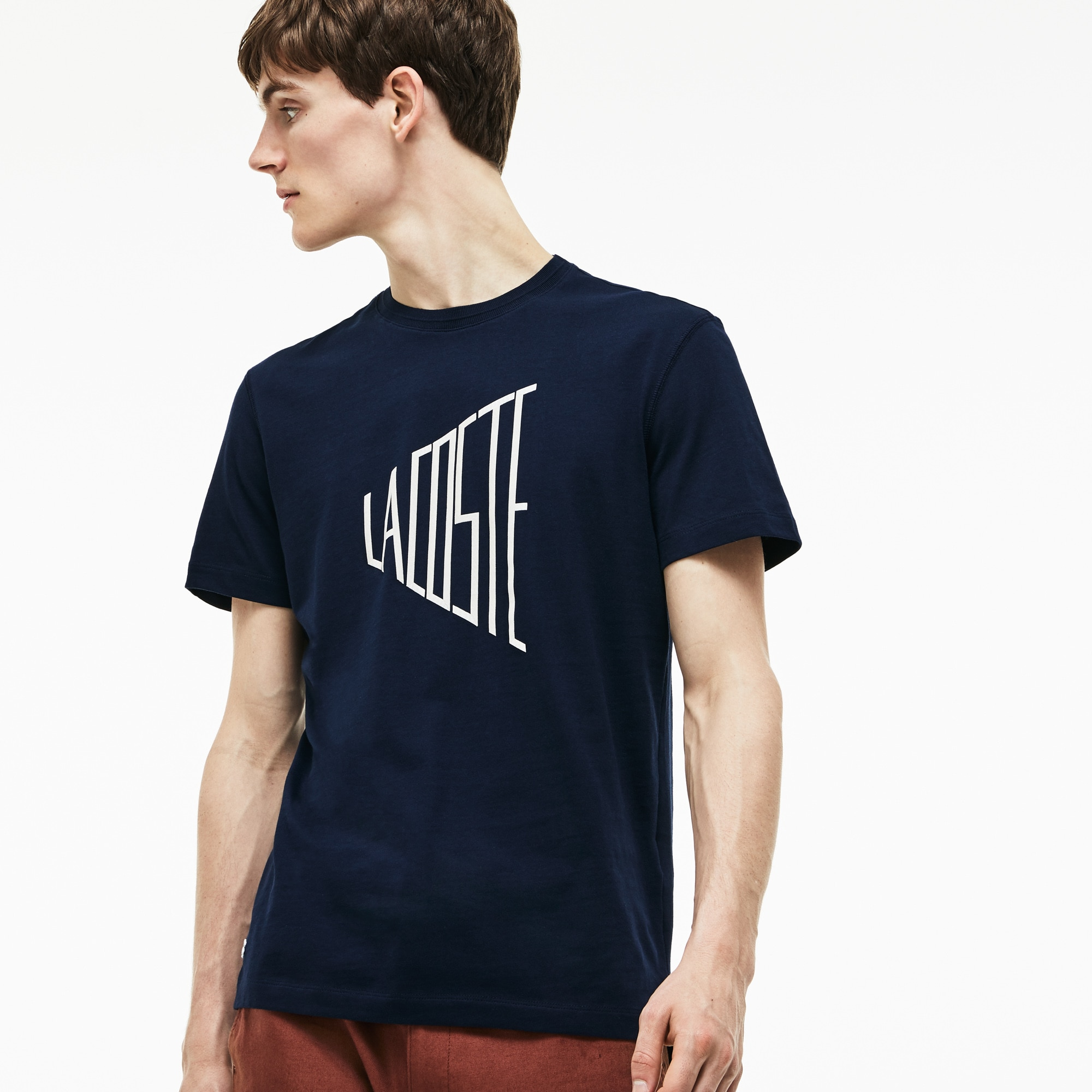 Men's Crew Neck Lettering T-Shirt