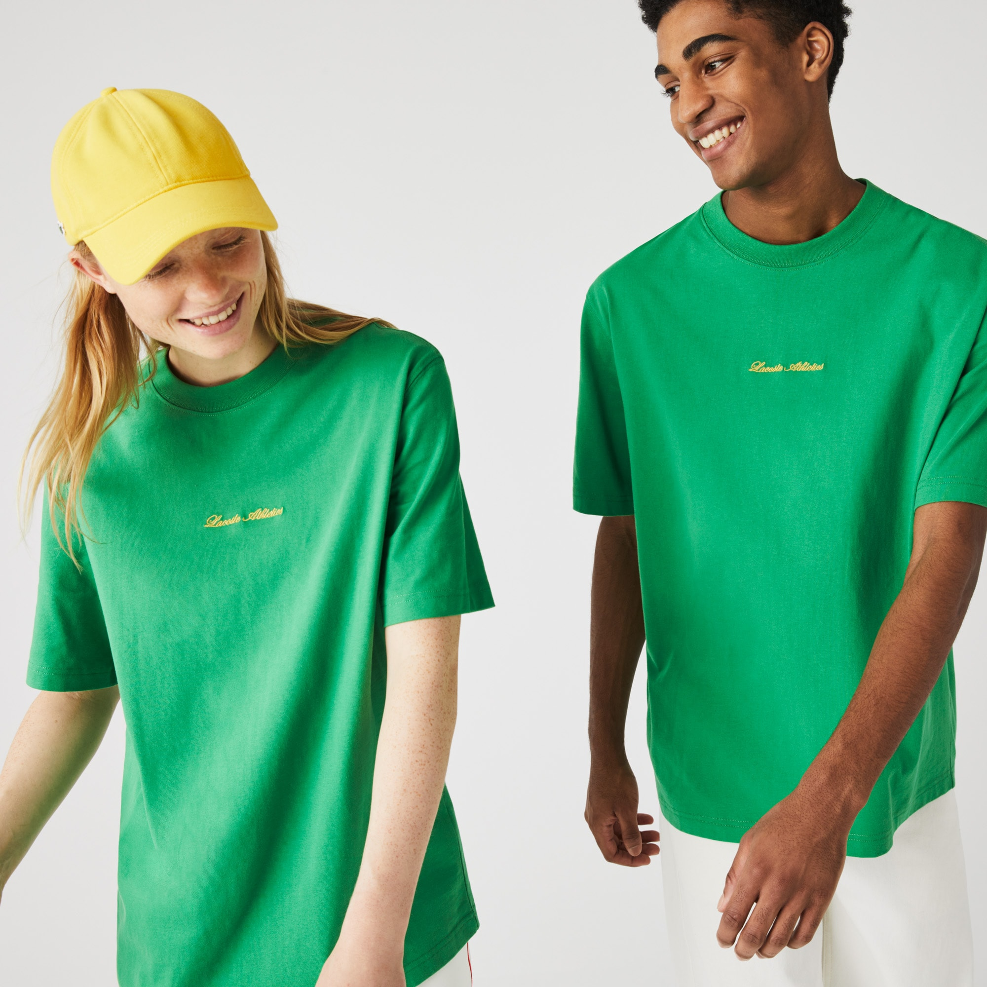 Lacoste Unisex LIVE Relaxed Fit Embroidered Cotton T-shirt