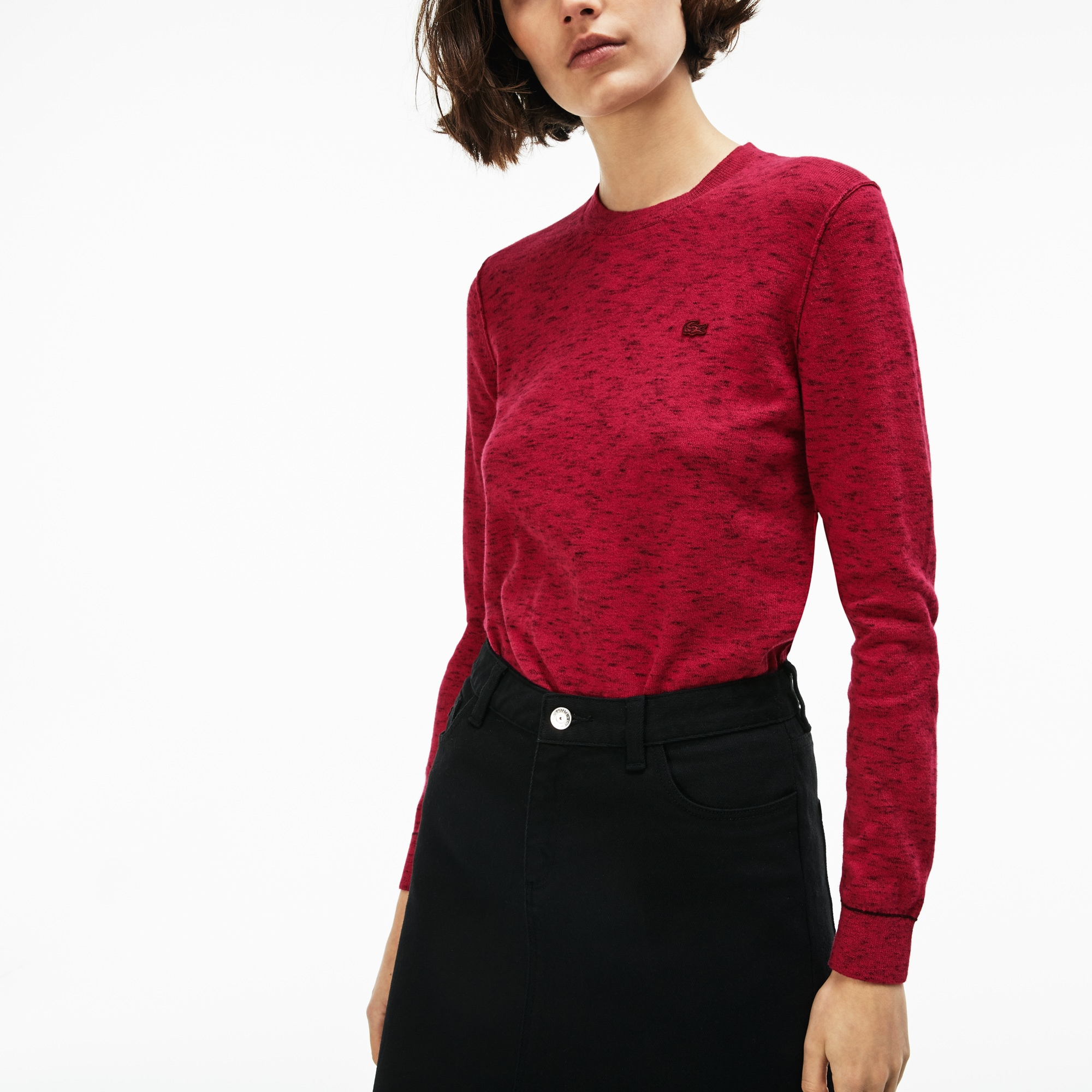 Women's LIVE Crew Neck Cotton And Cashmere Sweater