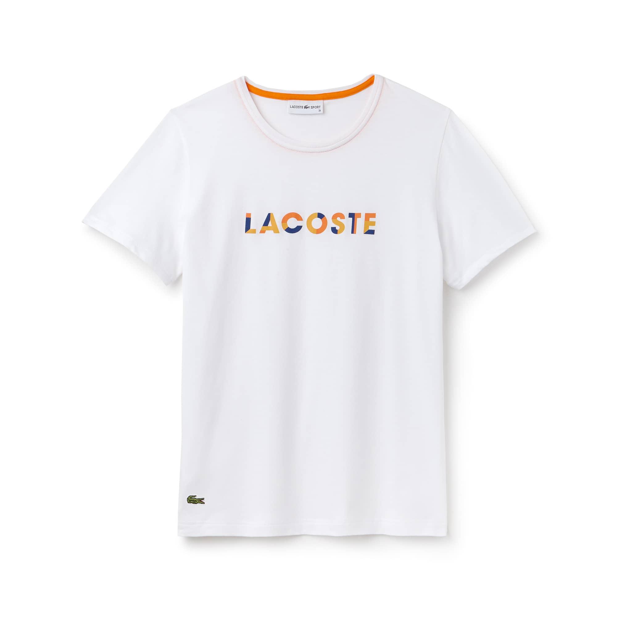 Women's SPORT Crew Neck Logo Jersey Tennis T-shirt
