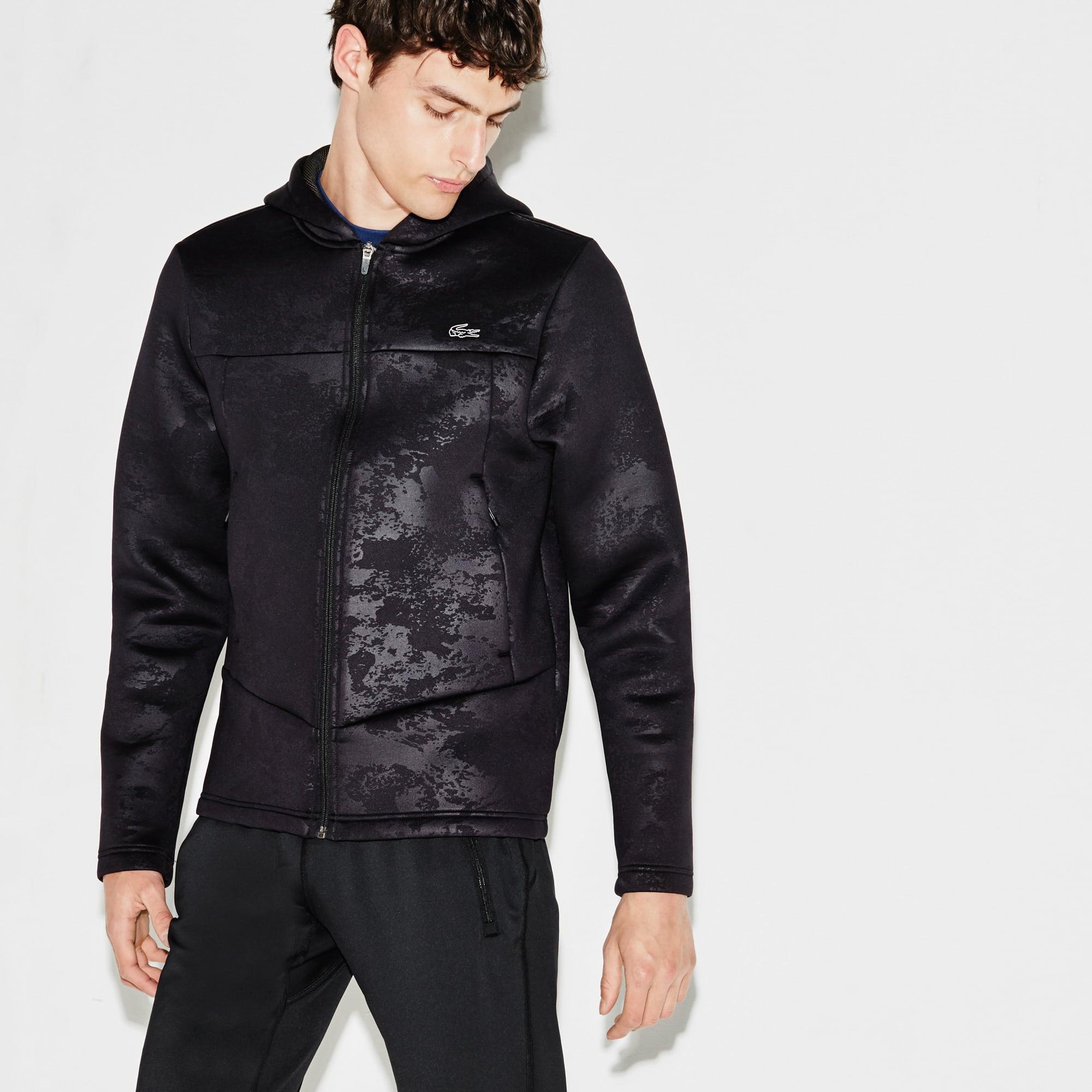 Men's SPORT Tennis Print Midlayer Hooded Zip Sweatshirt