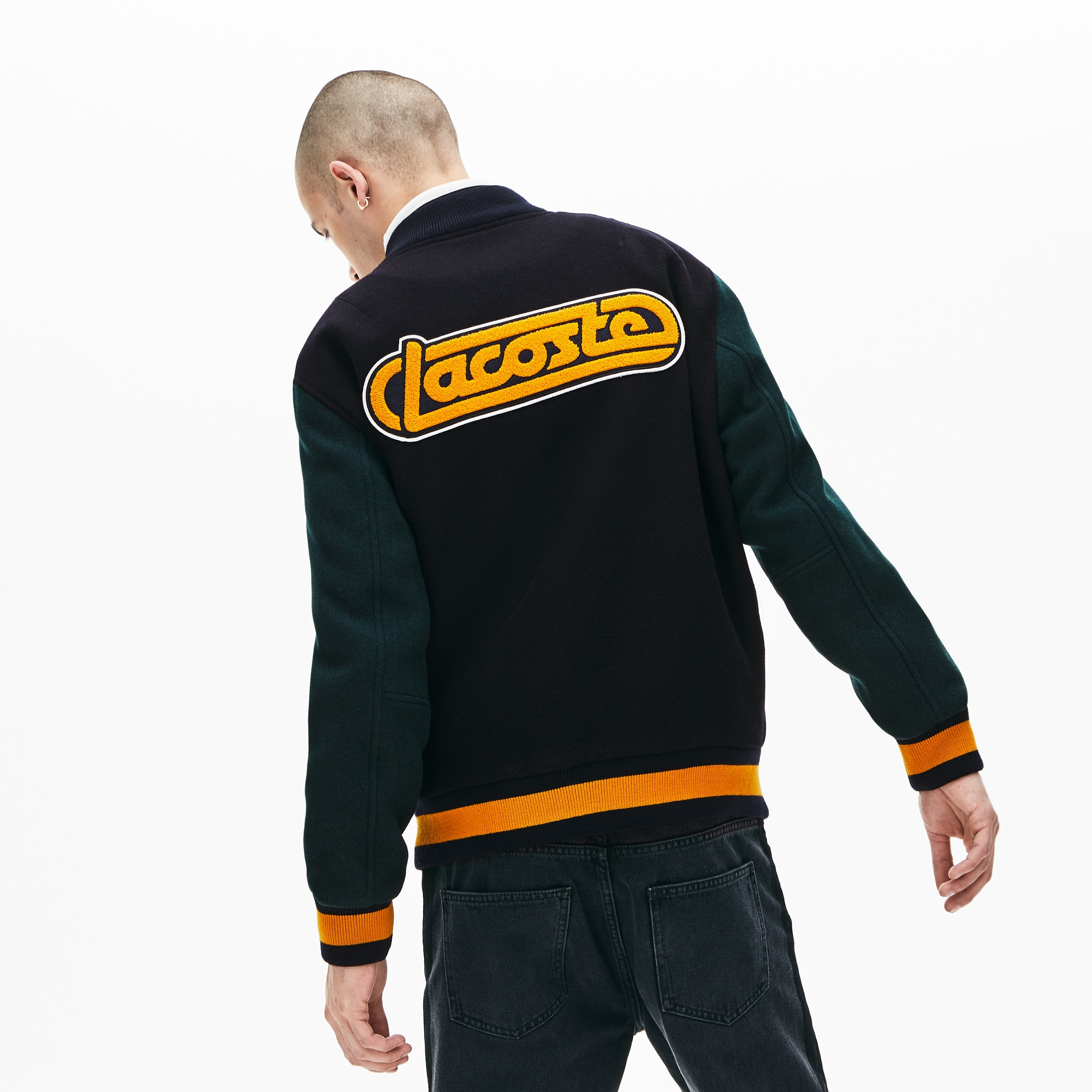 Men's LIVE Retro Dual-Tone Wool Bomber