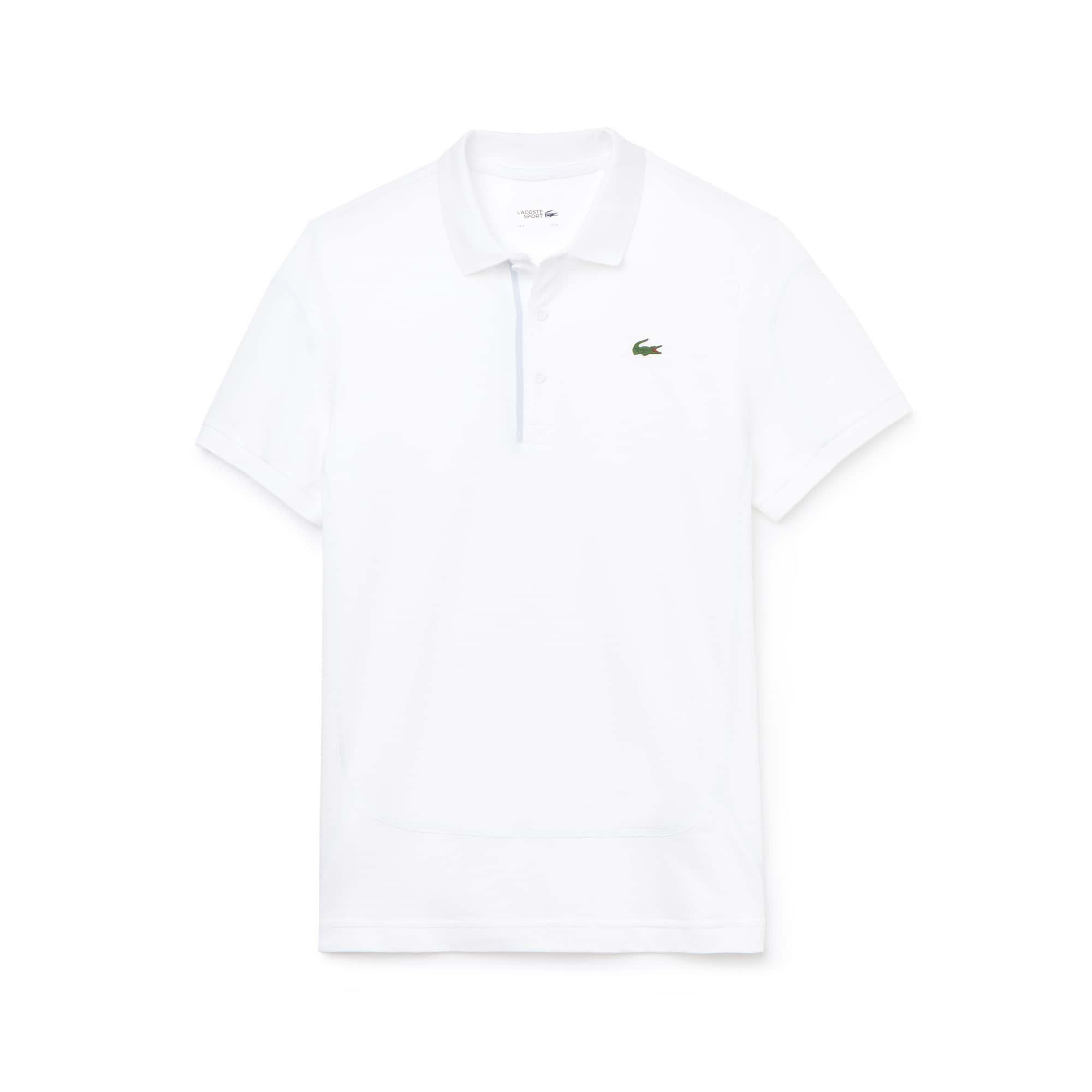 라코스테 Lacoste Mens SPORT Contrast Stitching Light Cotton Tennis Polo,white/armour