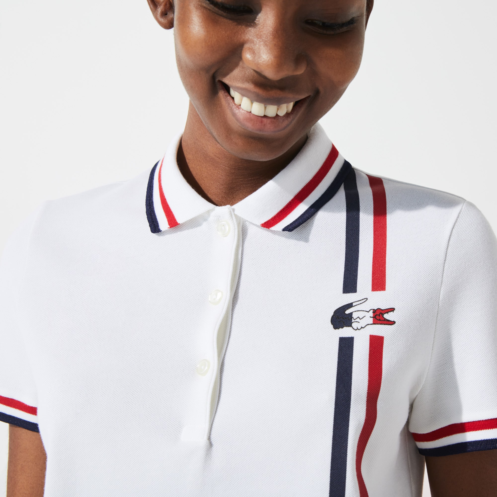 Lacoste Womens SPORT French Sporting Spirit Edition Heritage Cotton Polo Shirt