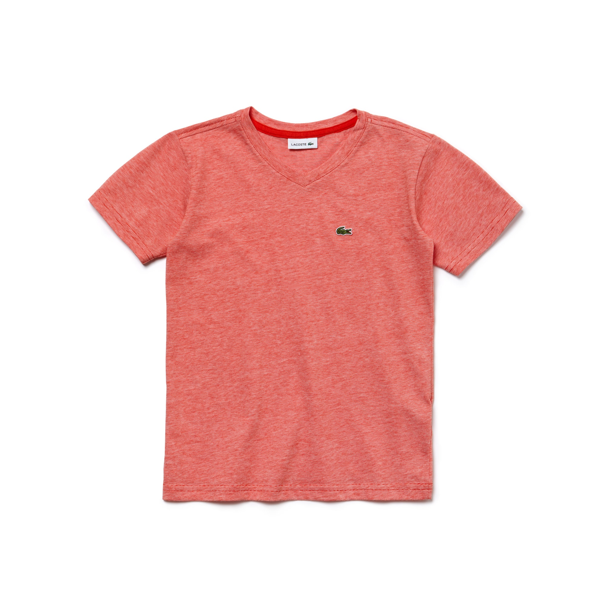 Boy's Striped Cotton V-Neck T-Shirt