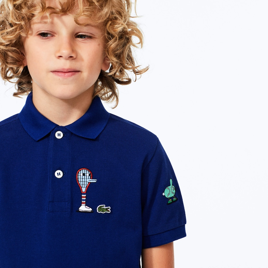 Boys' Lacoste x Jeremyville Graphic Cotton Polo