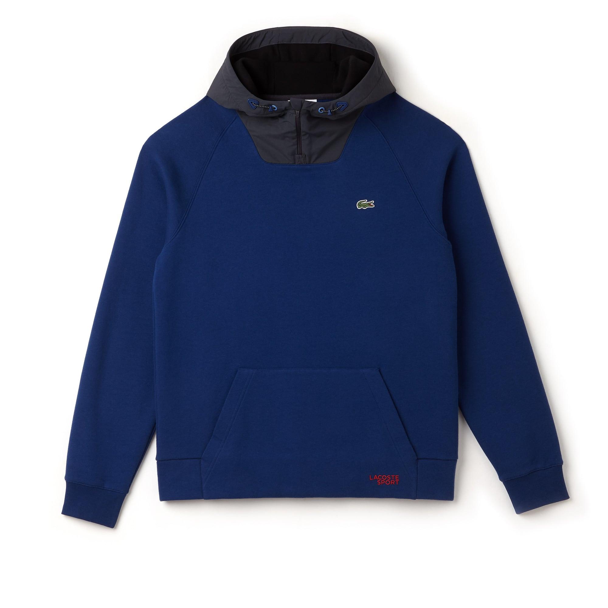 Men's SPORT Contrast Hood Fleece Tennis Sweatshirt