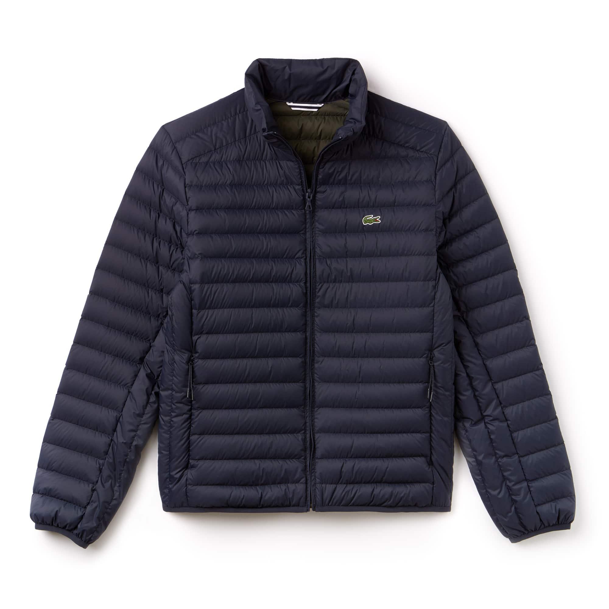 라코스테 초경량 퀼팅 자켓 메르디앙 블루 Lacoste Mens Short Contrast Lining Quilted Jacket, meridian blue, BH9389-51
