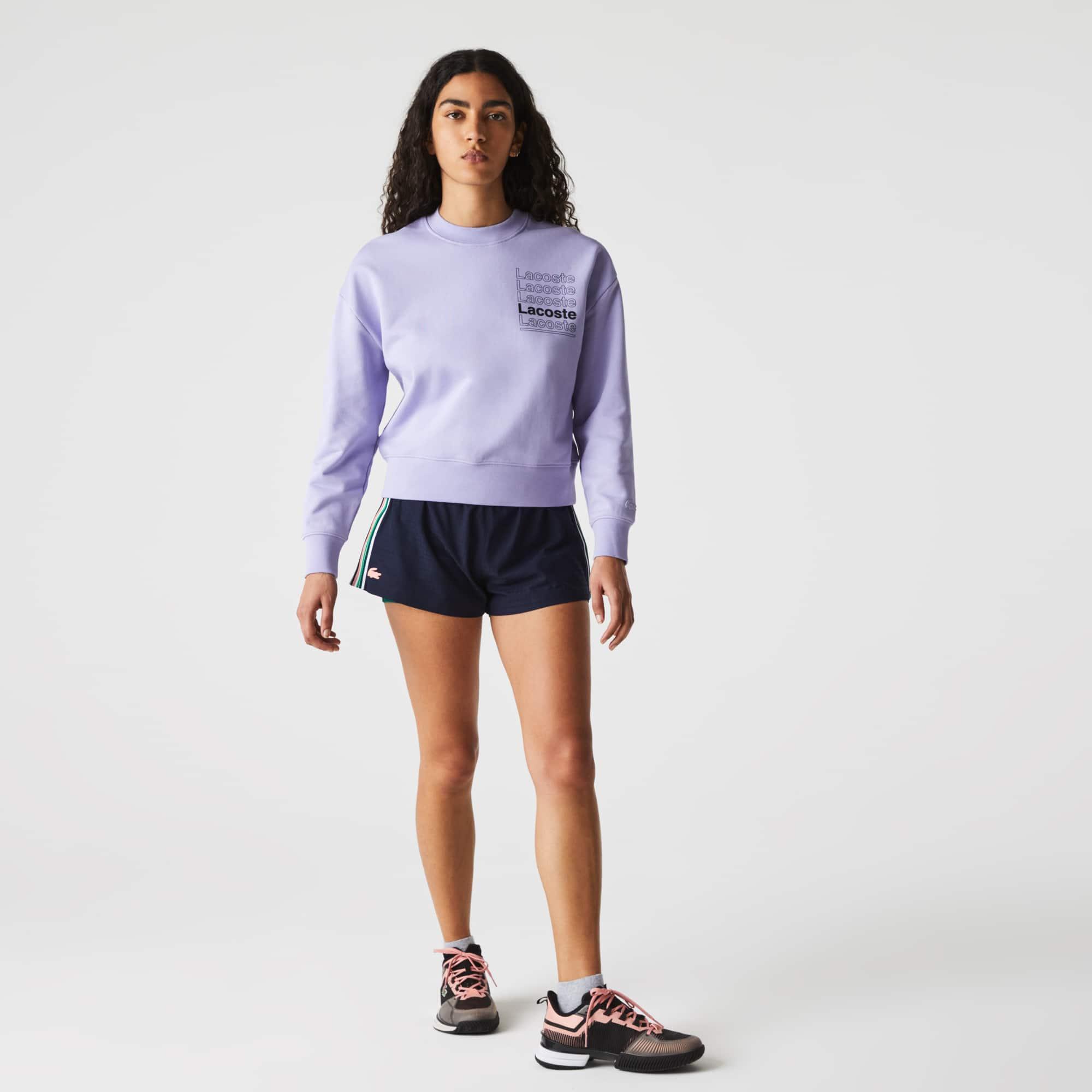 라코스테 스포츠 테니스 반바지 Lacoste Women's SPORT Houndstooth Breathable Tennis Shorts,Navy Blue / Green / Pink / White / Green / Navy Bl