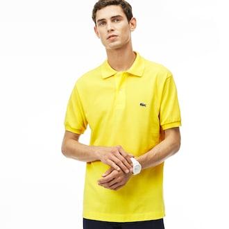 라코스테 Lacoste Mens L.12.12 Polo,Yellow