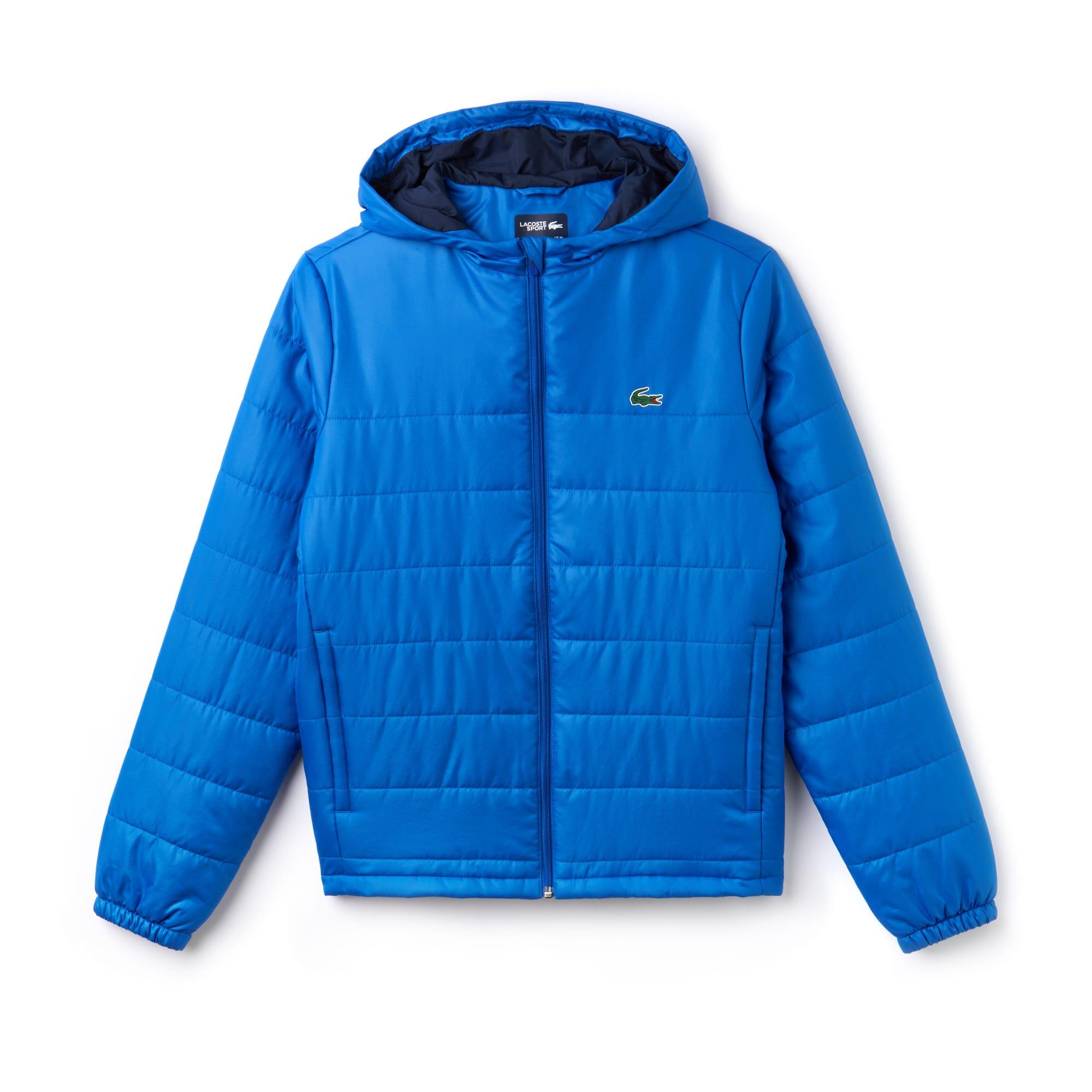라코스테 스포츠 후드 집업 자켓 Lacoste Mens SPORT Hooded Water-Resistant Taffeta Tennis Jacket,blue royal/navy blue