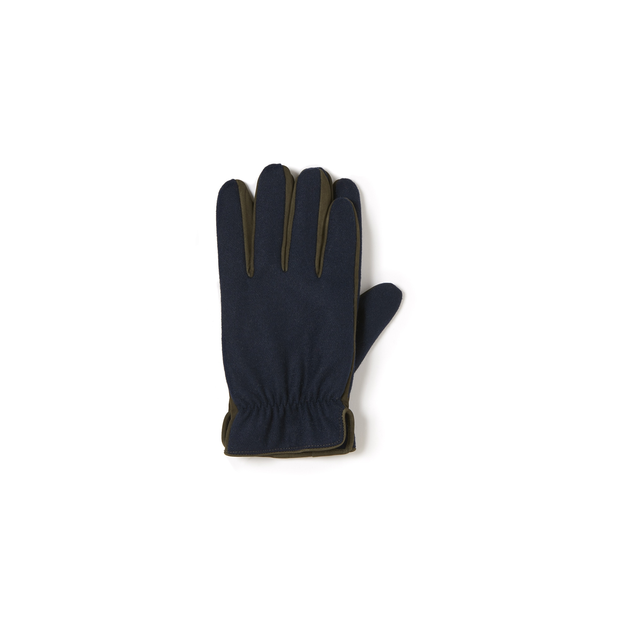 Men's Bicolor Leather And Wool Gloves