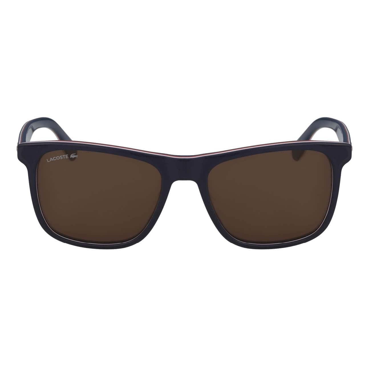 Men's Plastic Square Stripes & Piping Sunglasses