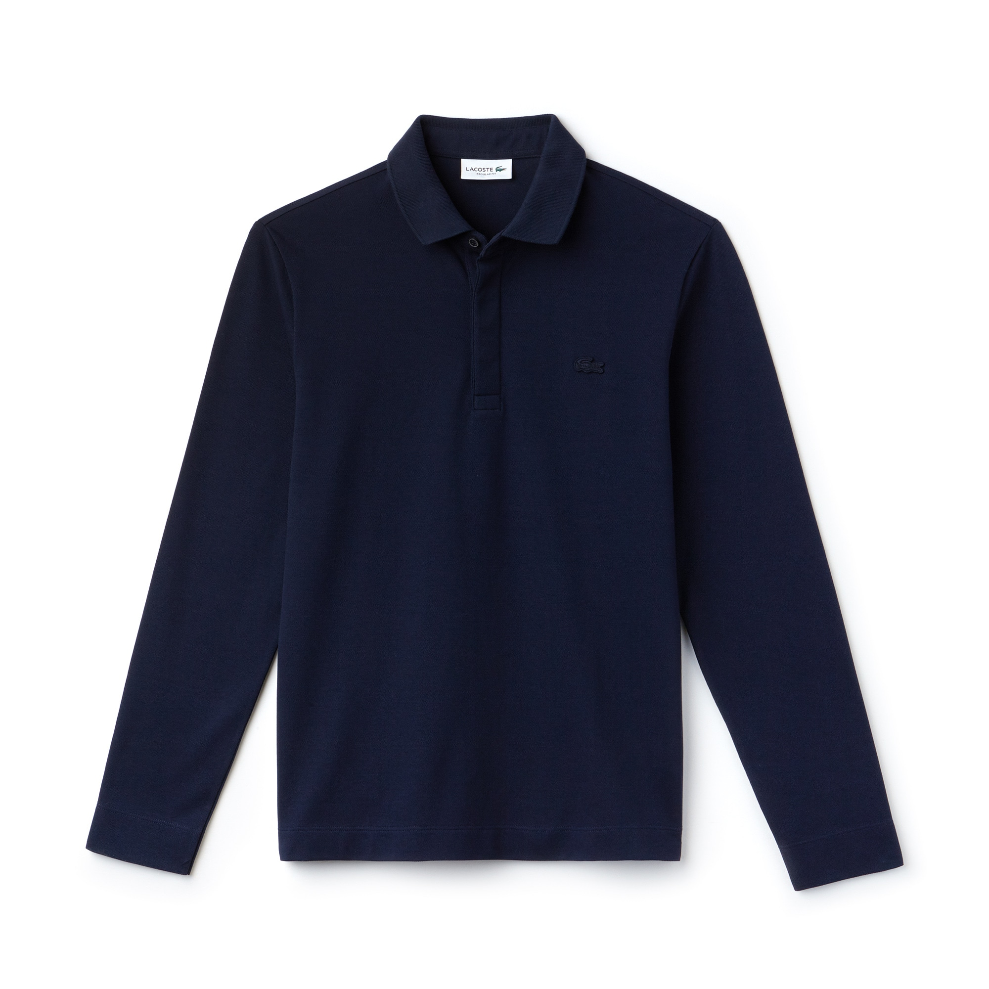 Men's Long-sleeve Paris Polo Regular Fit Stretch Cotton Piqué