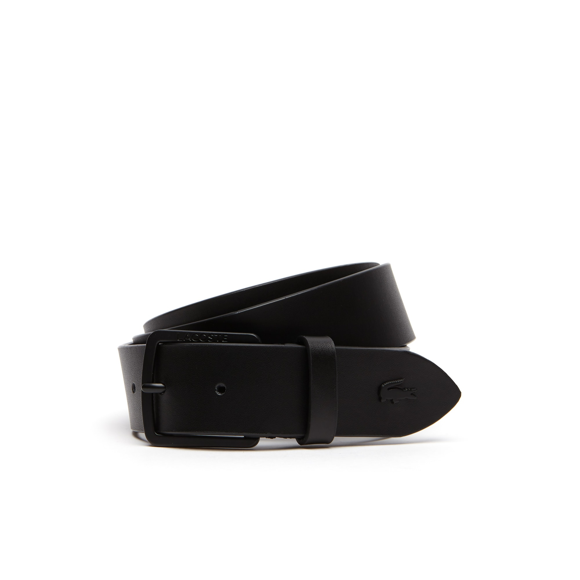 82c4c29093b0 Men s Lacoste Engraved Tongue Buckle Leather Belt ...