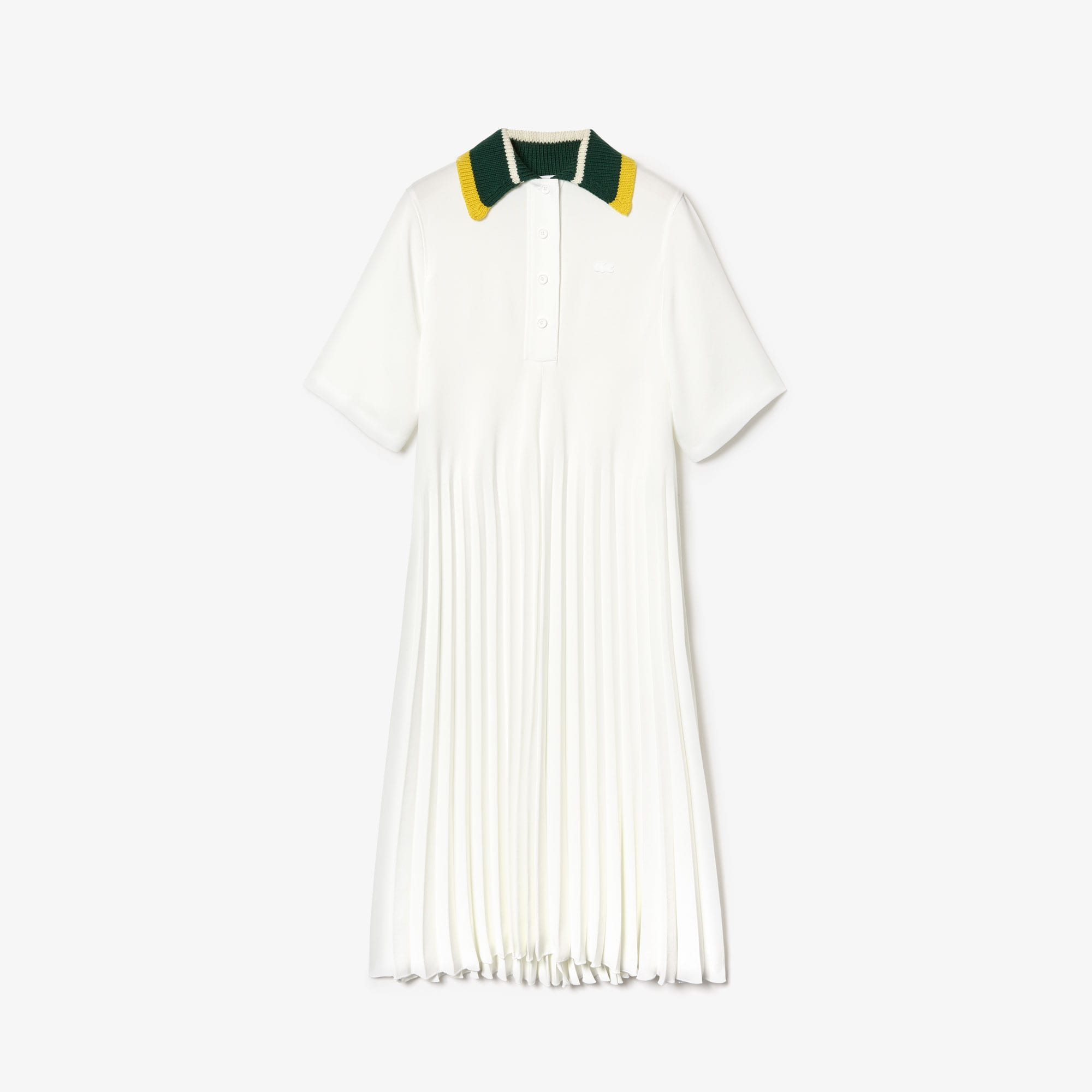Women's Fashion Show Polo Dress with Knitted Collar