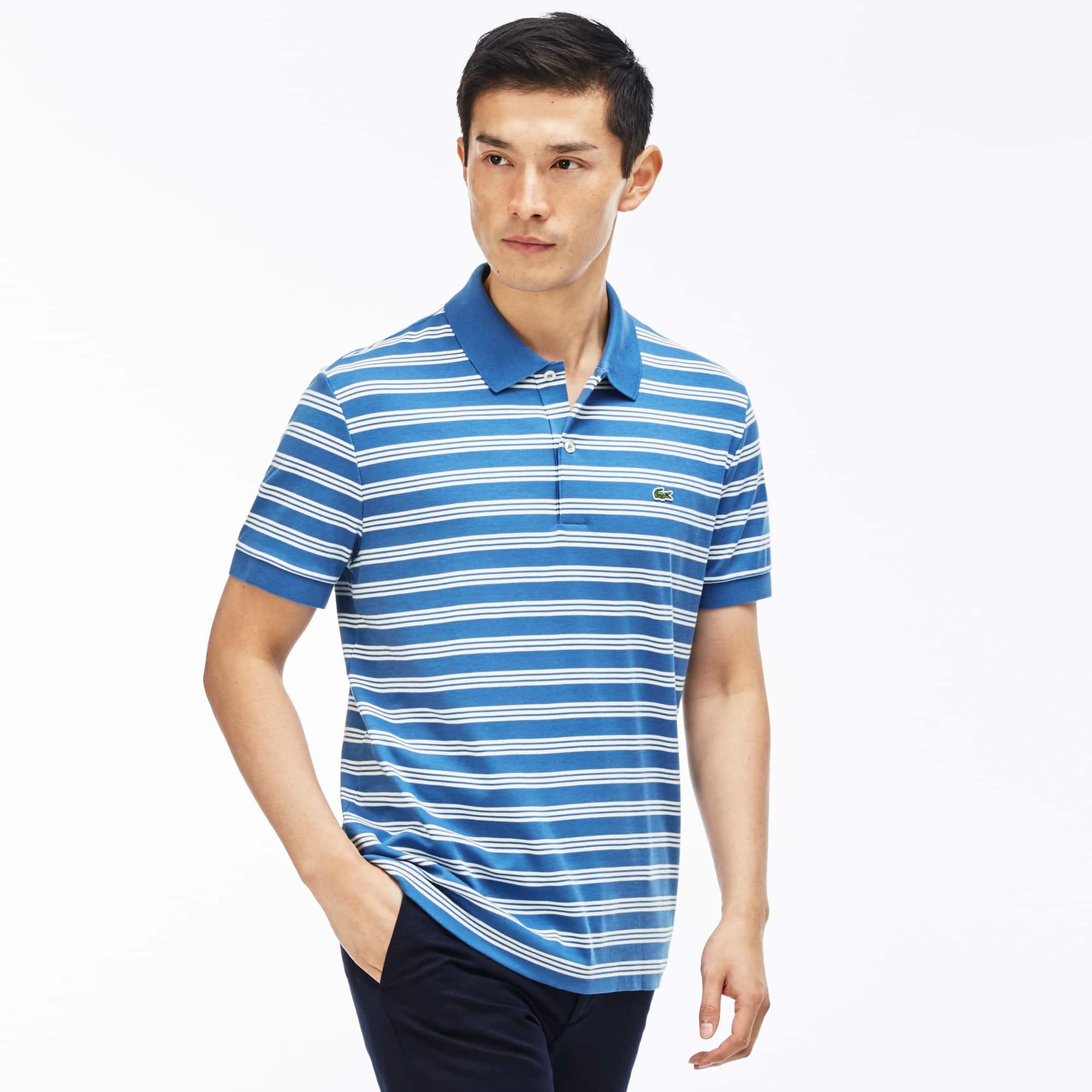 Men's Interlock Stripe Jersey Polo Shirt