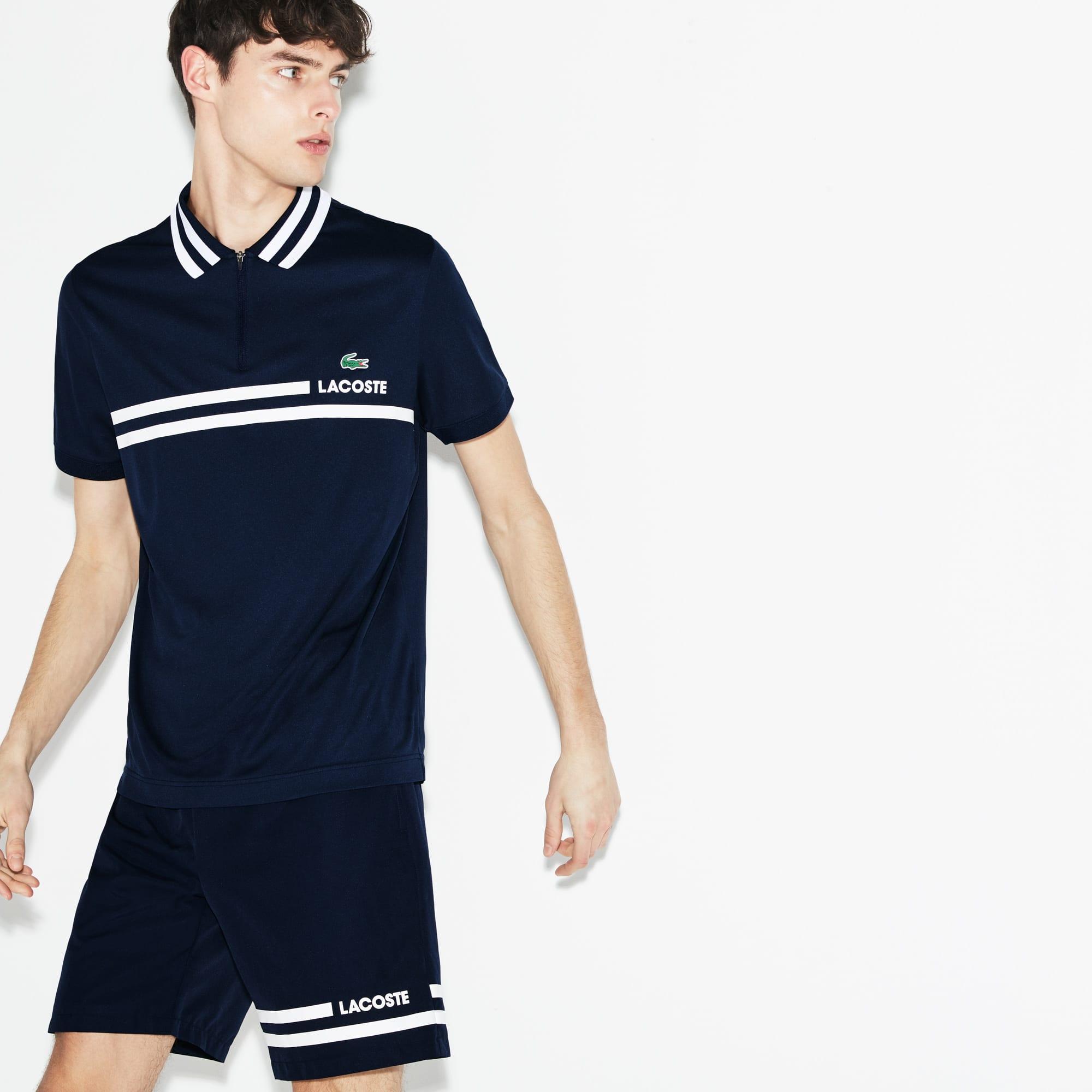 Men's SPORT Contrast Bands Taffeta Tennis Shorts