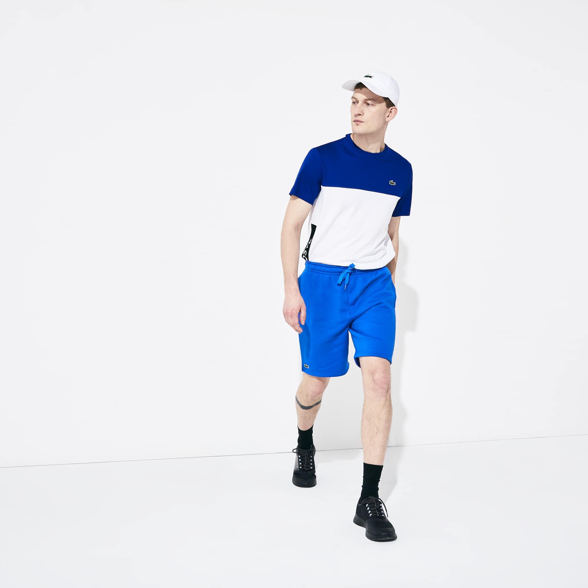 라코스테 스포츠 테니스 플리스 반바지 - 블루 Lacoste Mens SPORT Tennis Fleece Shorts, V6C GH213651