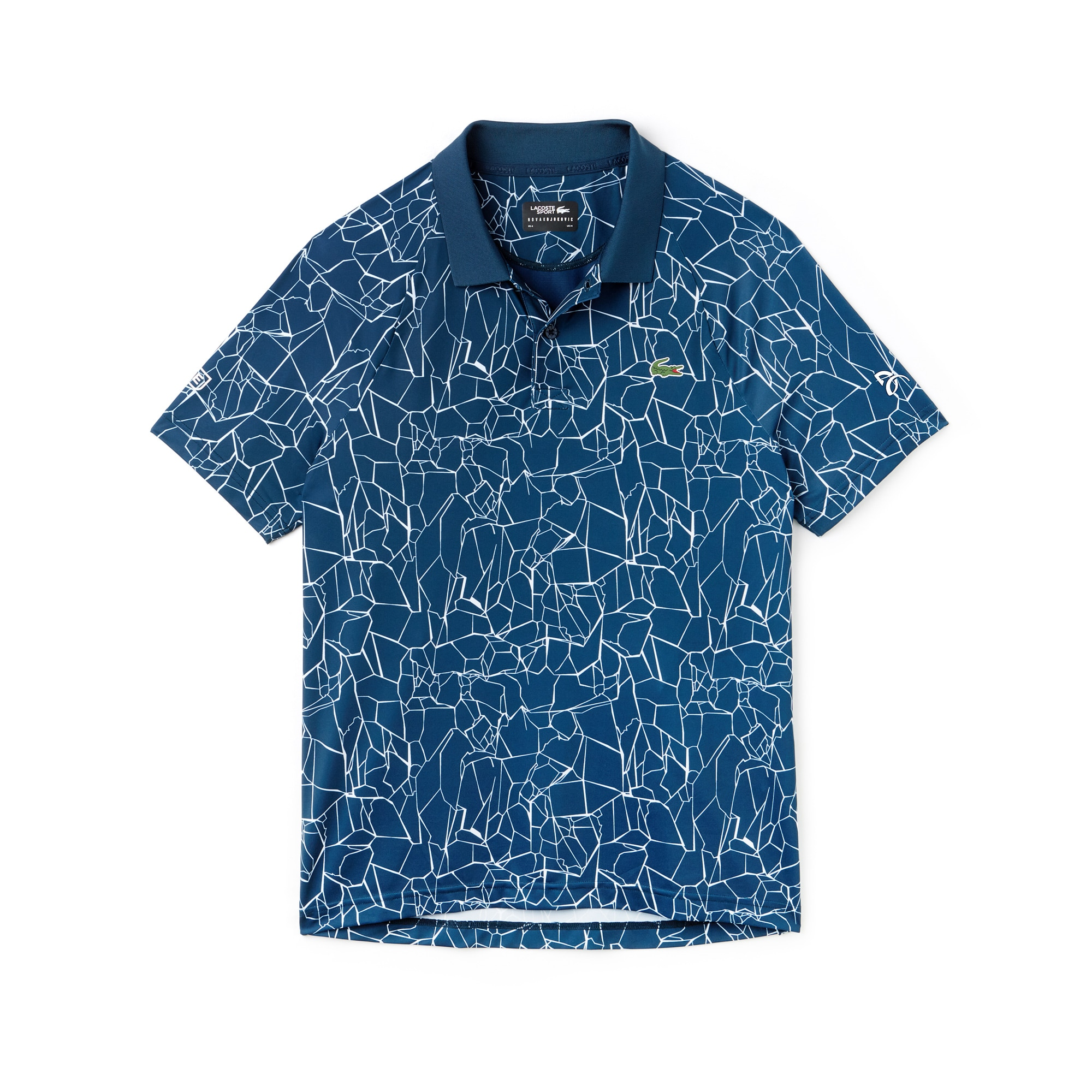 Men's SPORT Print Technical Jersey Polo - Lacoste x Novak Djokovic On Court Premium Edition