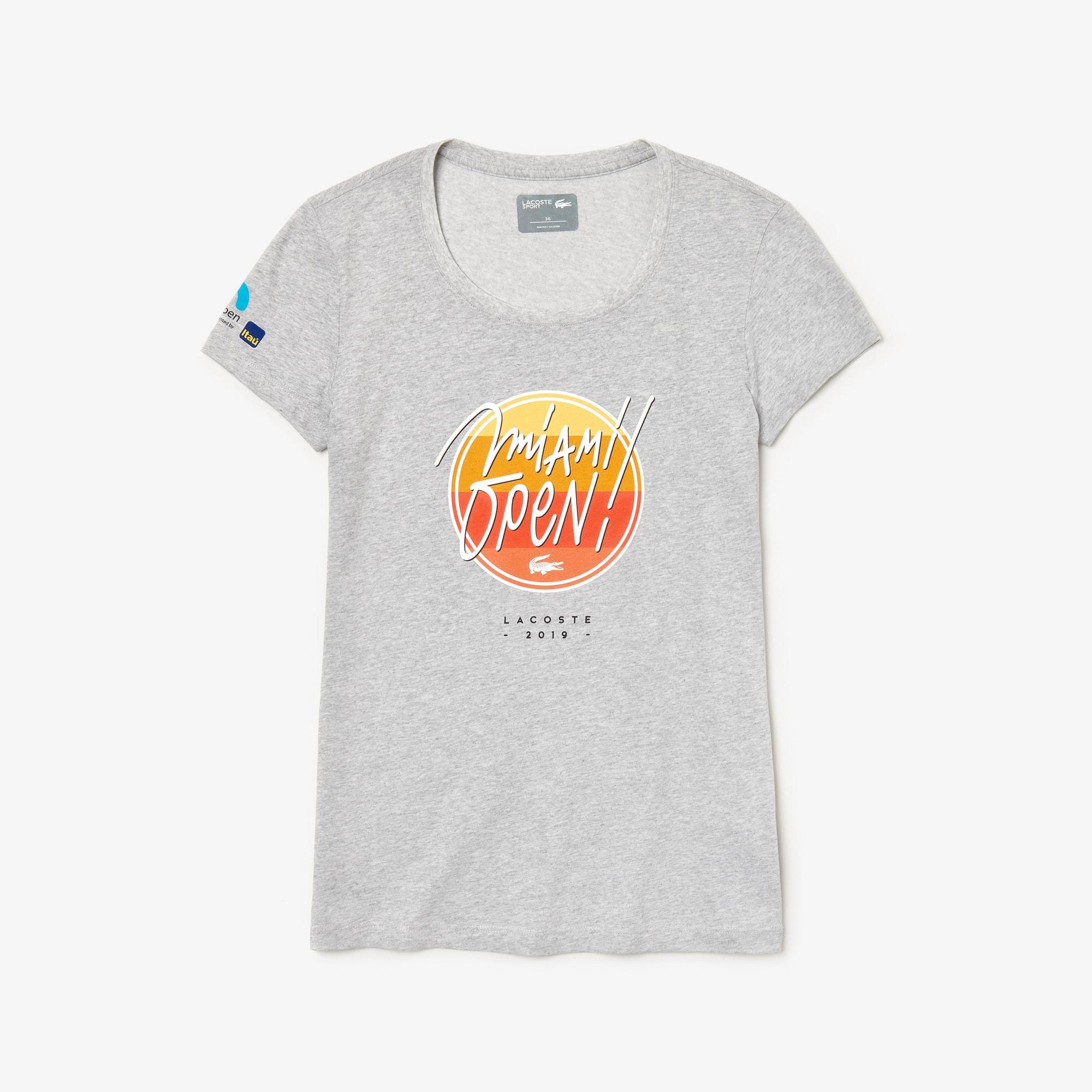 라코스테 우먼 스포츠 테니스 반팔 티셔츠, 마이애미 오픈 에디션 Lacoste Womens SPORT Miami Open Edition T-shirt