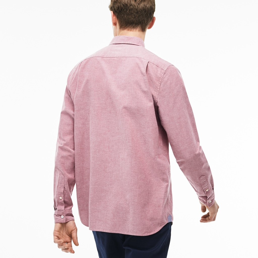 6f0db58247 Lacoste Long Sleeve Button Down Oxford Woven Shirt | Azərbaycan ...