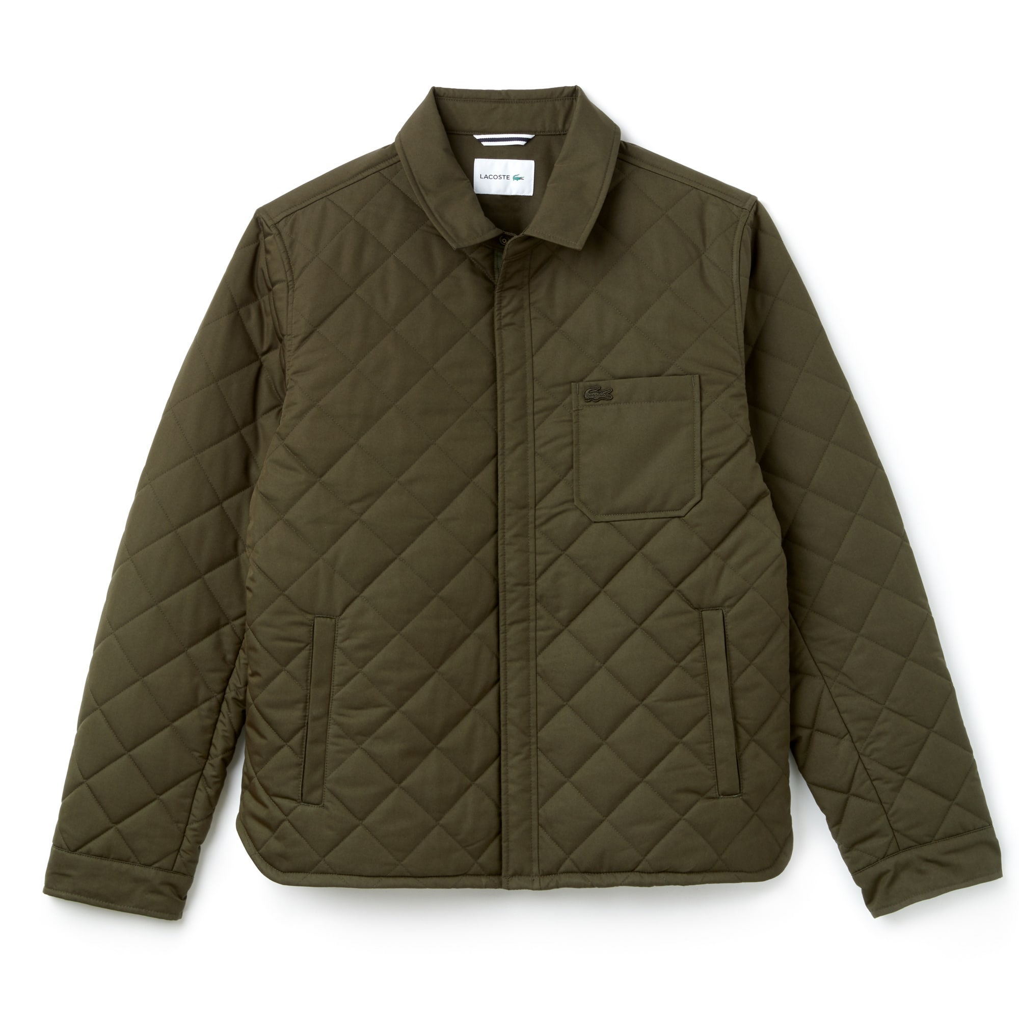 Men's Texturized Cotton Short Quilted Jacket