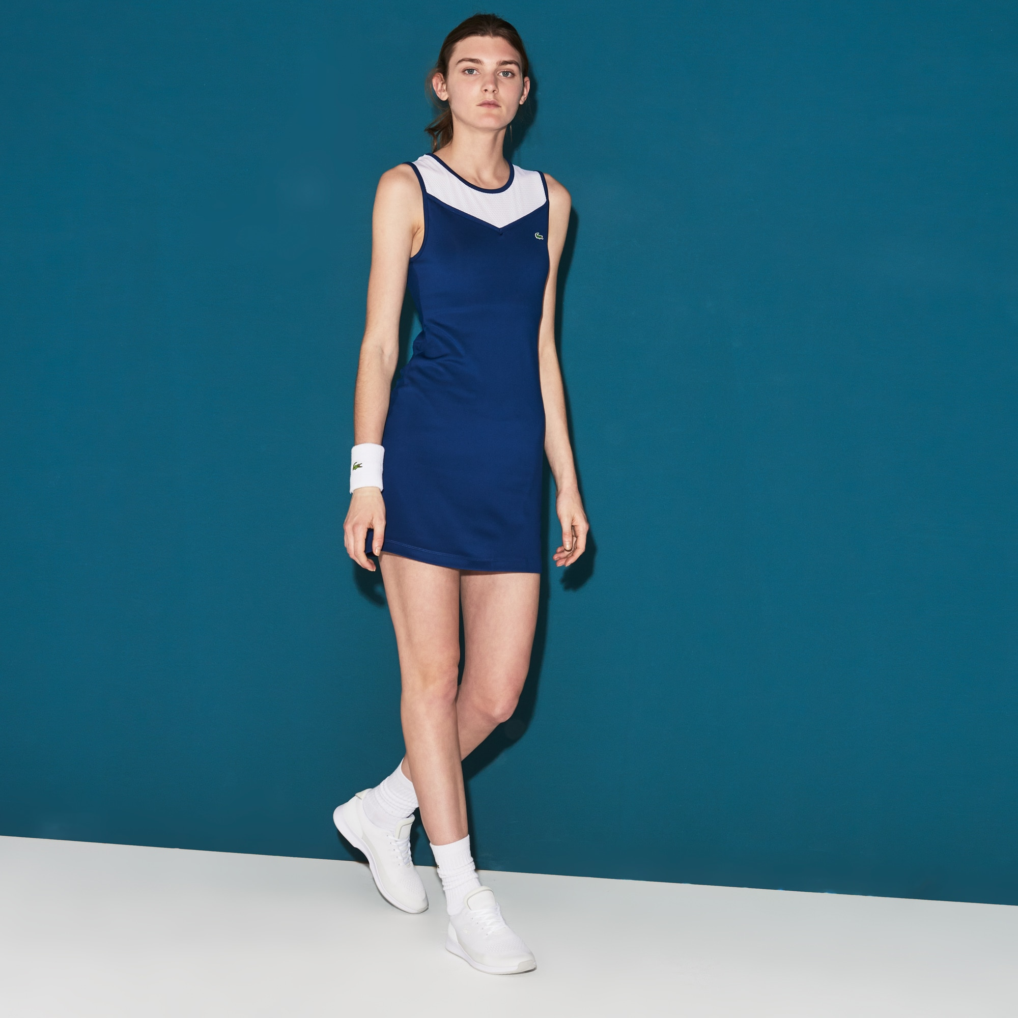 Women's SPORT Tech Jersey And Mesh Racerback Tennis Dress