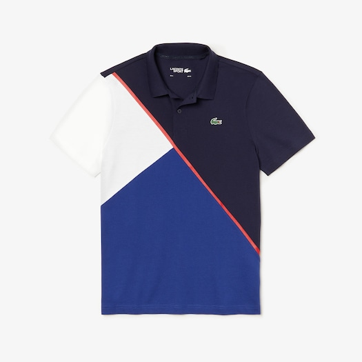 라코스테 스포츠 폴로 셔츠 Lacoste Mens SPORT Color-Block Ultra Light Cotton Tennis Polo,Navy Blue / Navy Blue / White / Red