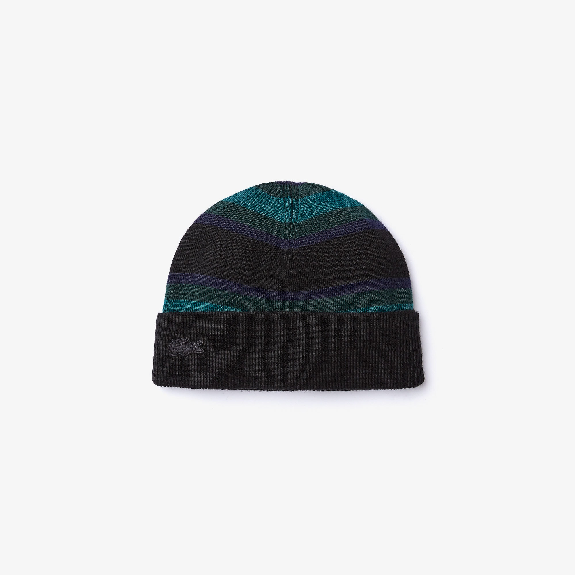 Women's Striped Wool Jersey Beanie