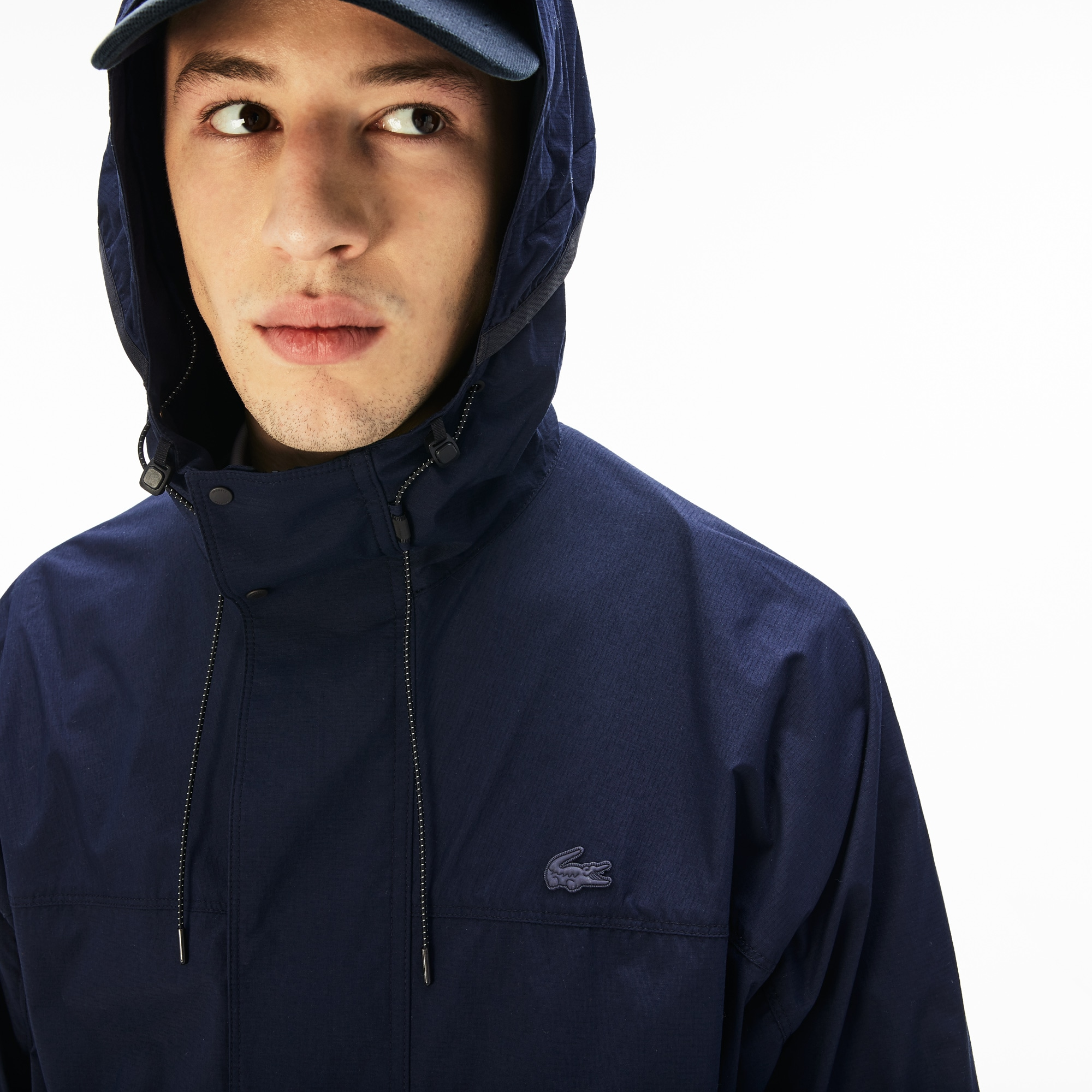 Men's Lacoste Motion Collapsible Hooded Ultra Light Raincoat