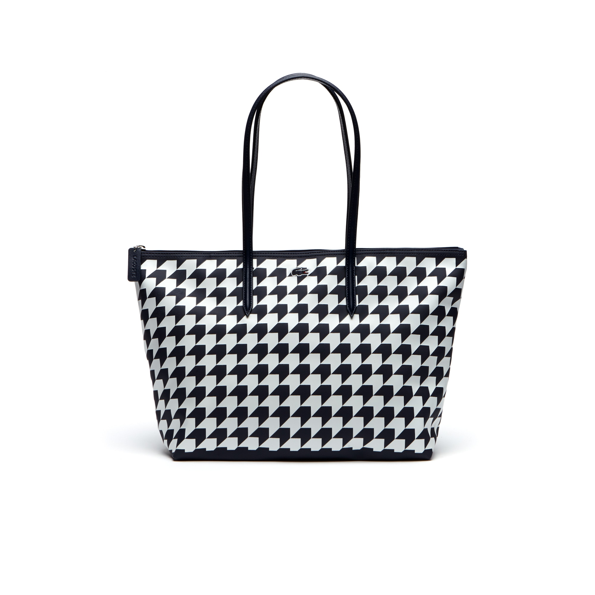 Women's L.12.12 Concept Houndstooth Horizontal Zip Tote Bag