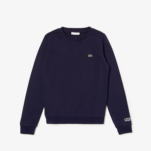 라코스테 우먼 스포츠 테니스 스웻셔츠 - 네이비 Lacoste Womens SPORT Tennis Cotton Fleece Sweatshirt,Navy Blue - 166
