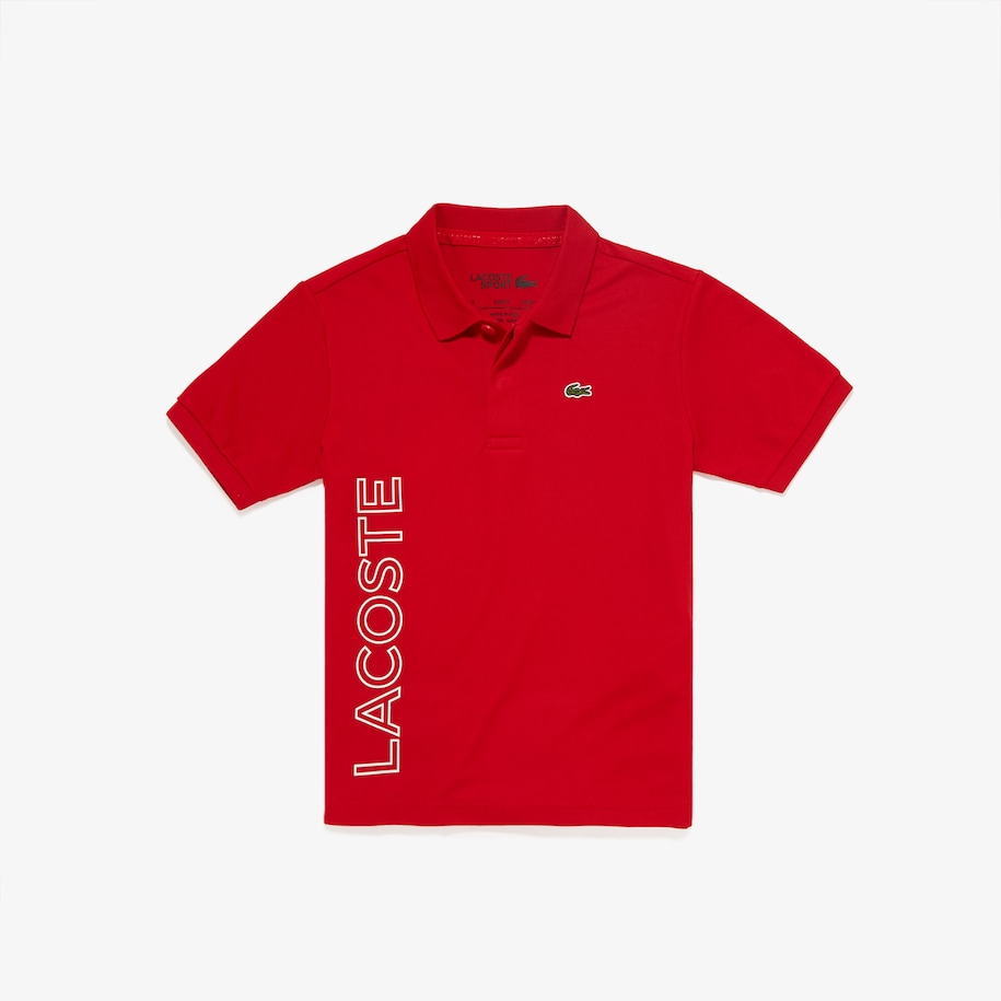 Boys' SPORT Branded Breathable Piqué Polo Shirt