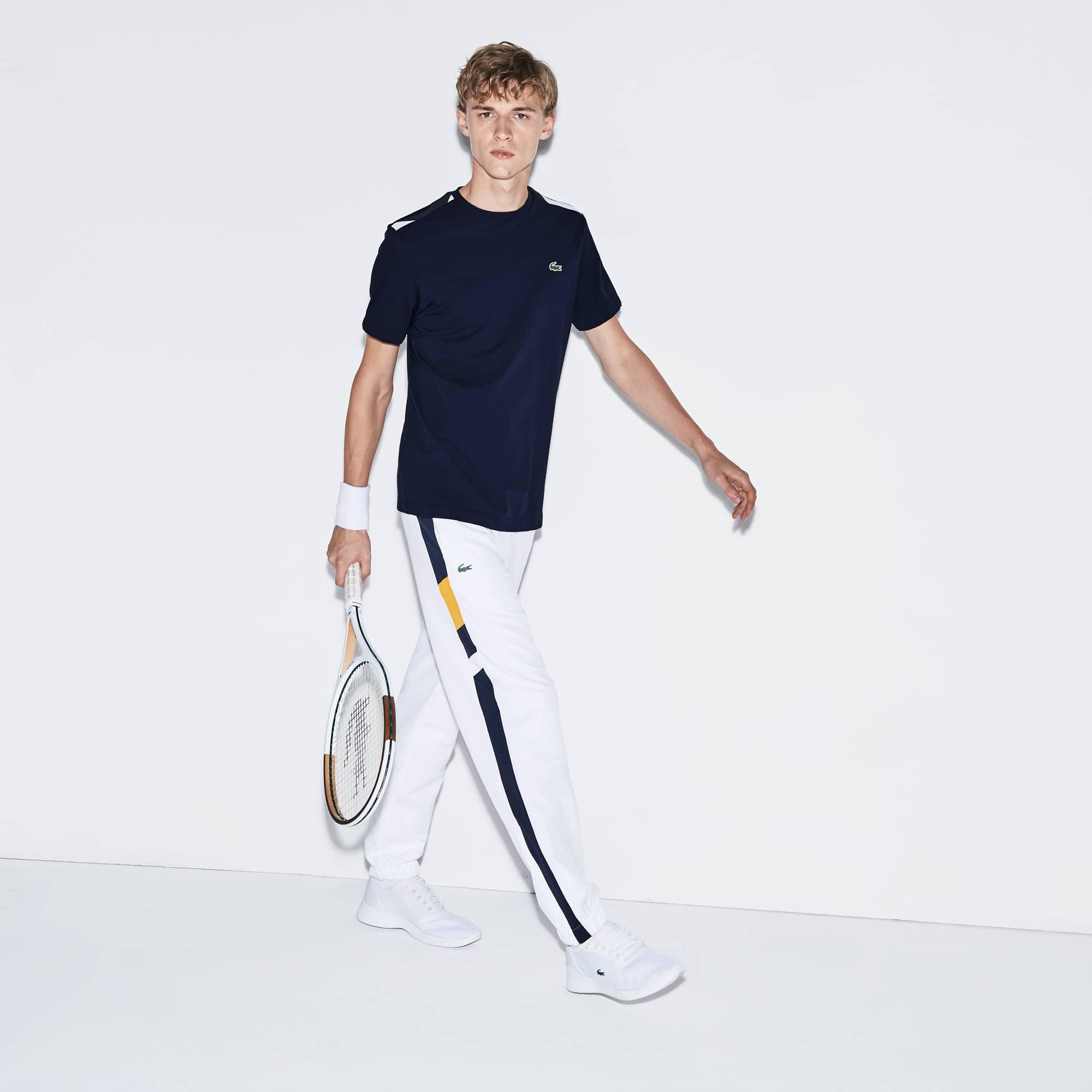 Men's SPORT Contrast Accents Cotton Tennis T-shirt