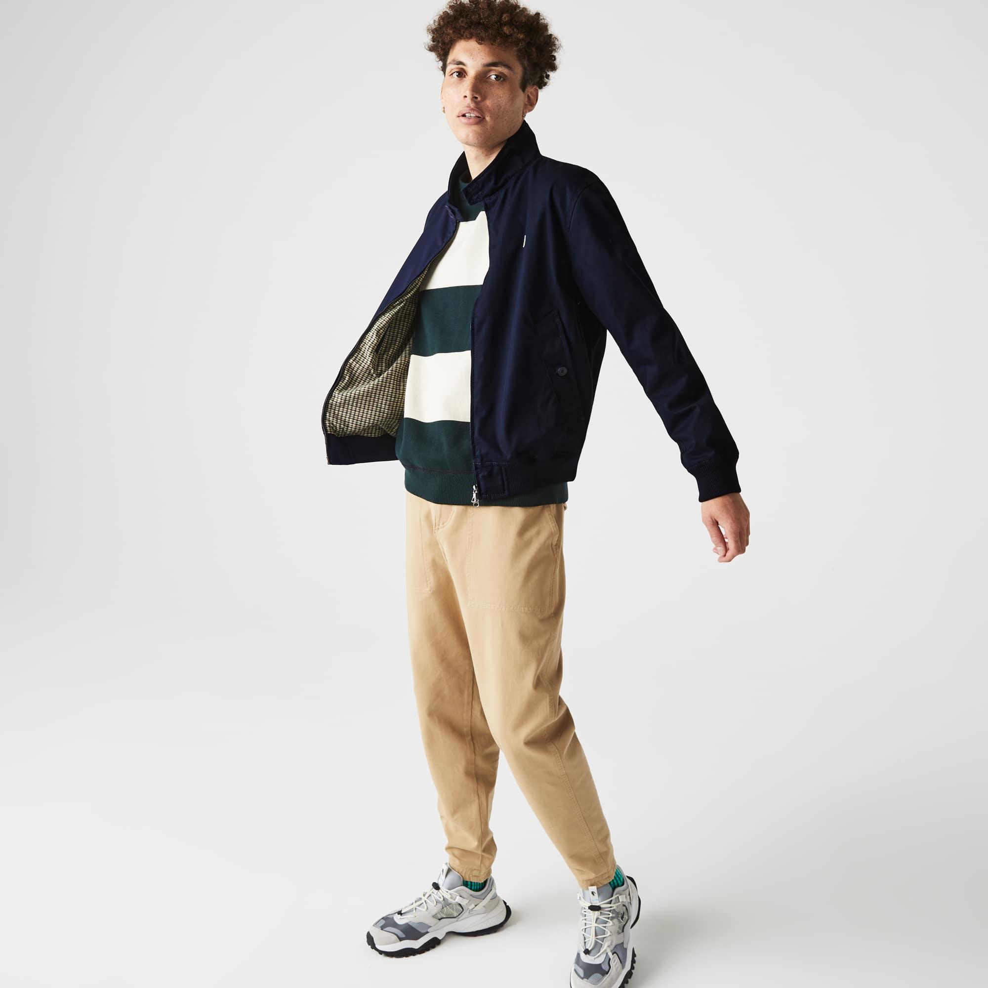 라코스테 Lacoste Men's Water-Resistant Cotton Zip Jacket