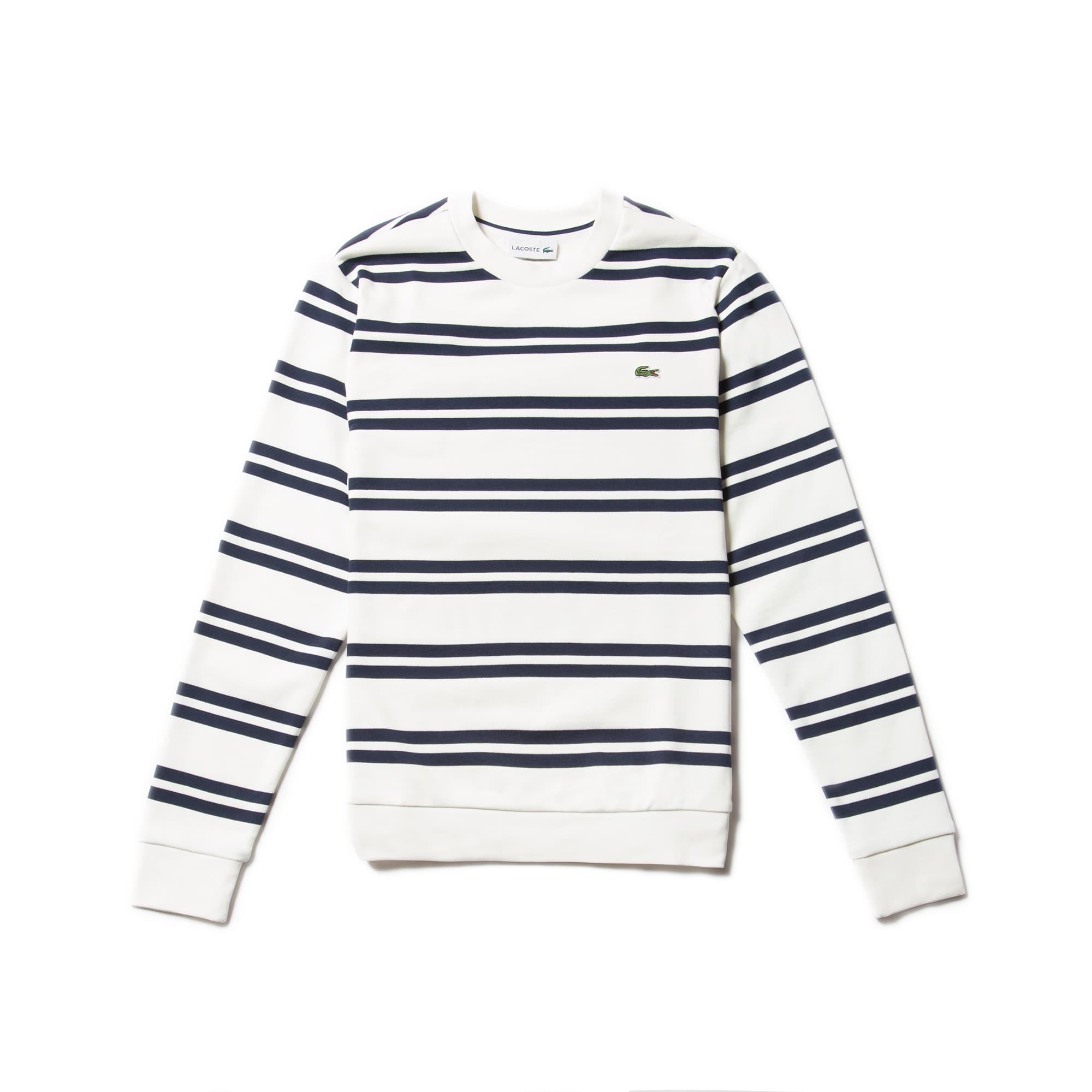 Men's Nautical Stripe Brushed Fleece Sweatshirt