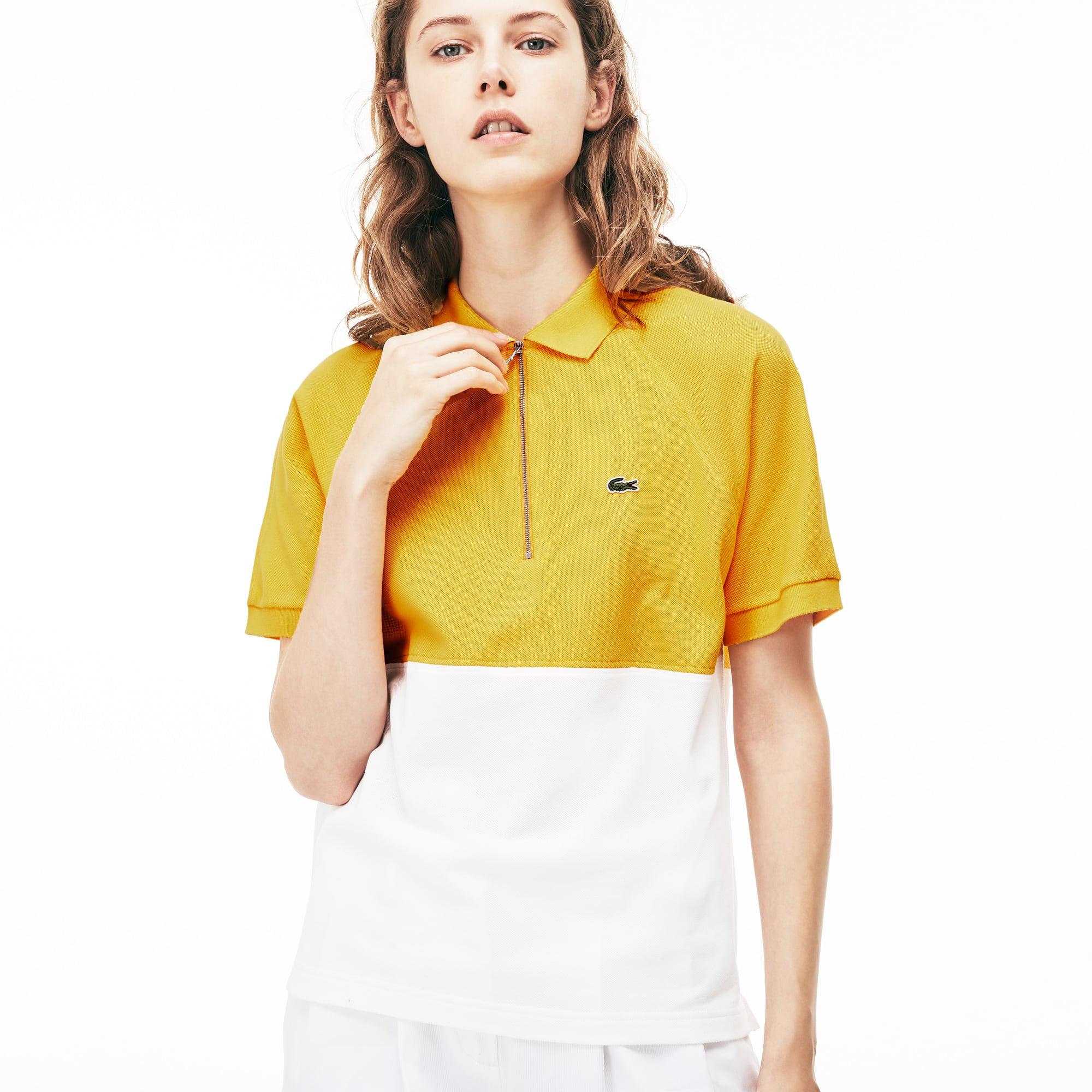 Women's Slim Fit Colorblock Cotton Petit Piqué Polo