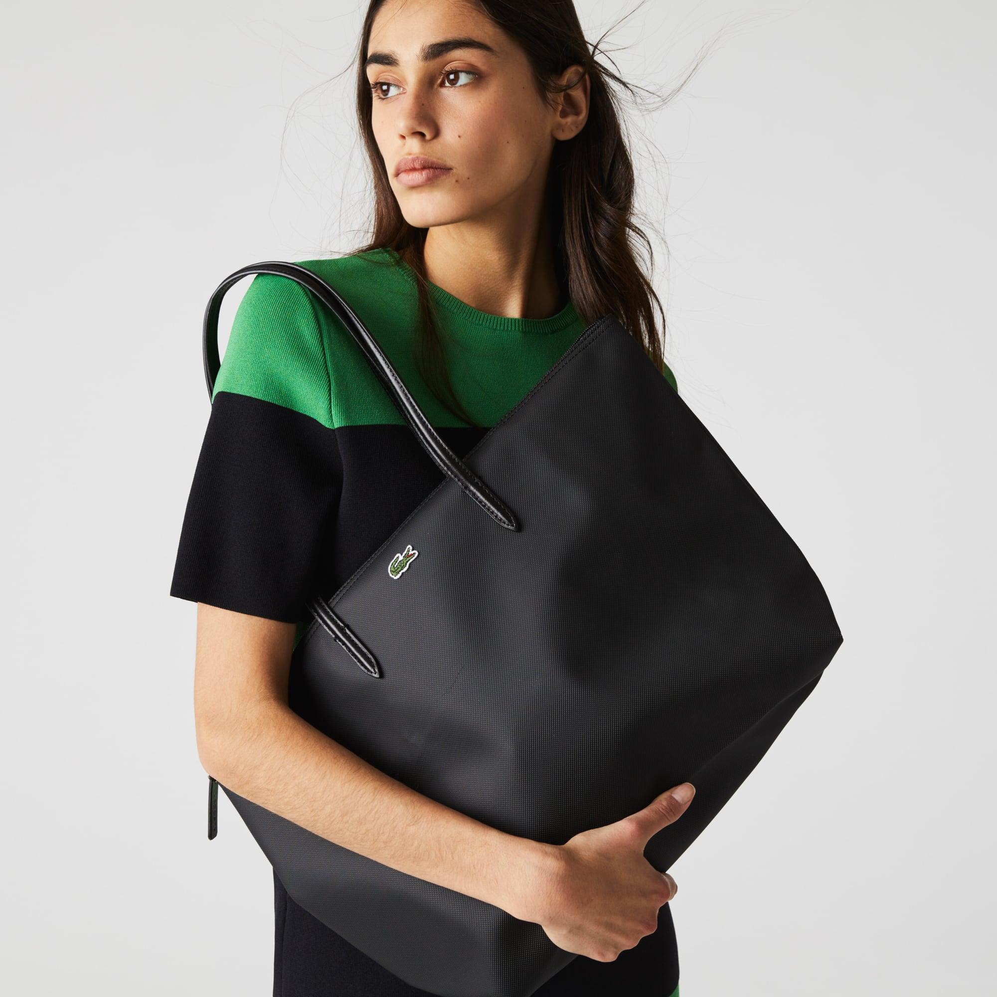 라코스테 Lacoste Womens L.12.12 Concept Zip Tote Bag