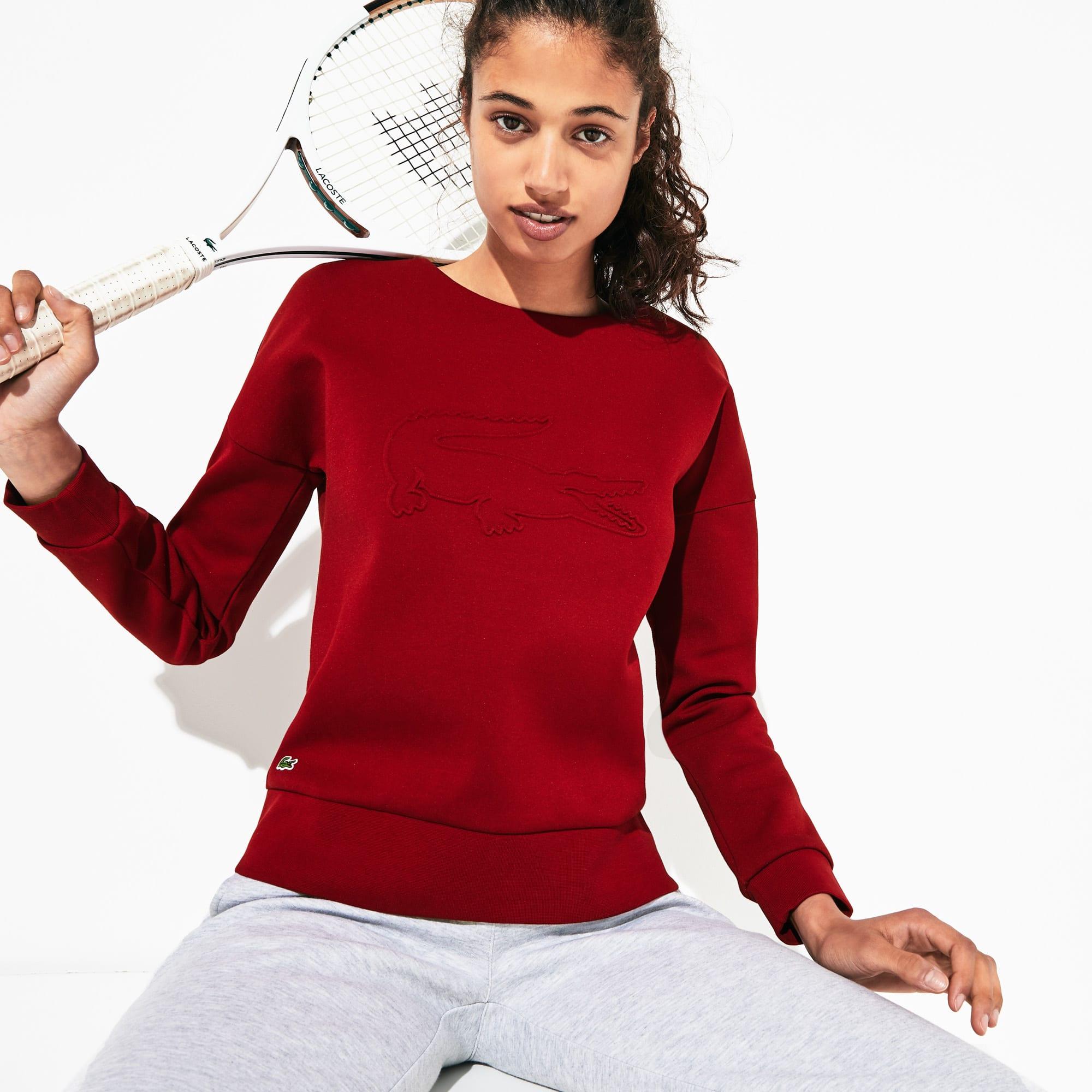 Lacoste Women's SPORT Oversize Croc Cotton-Blend Sweatshirt