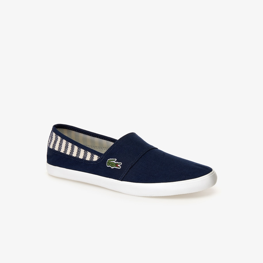 Men's Marice Canvas Slip-ons with Green Croc