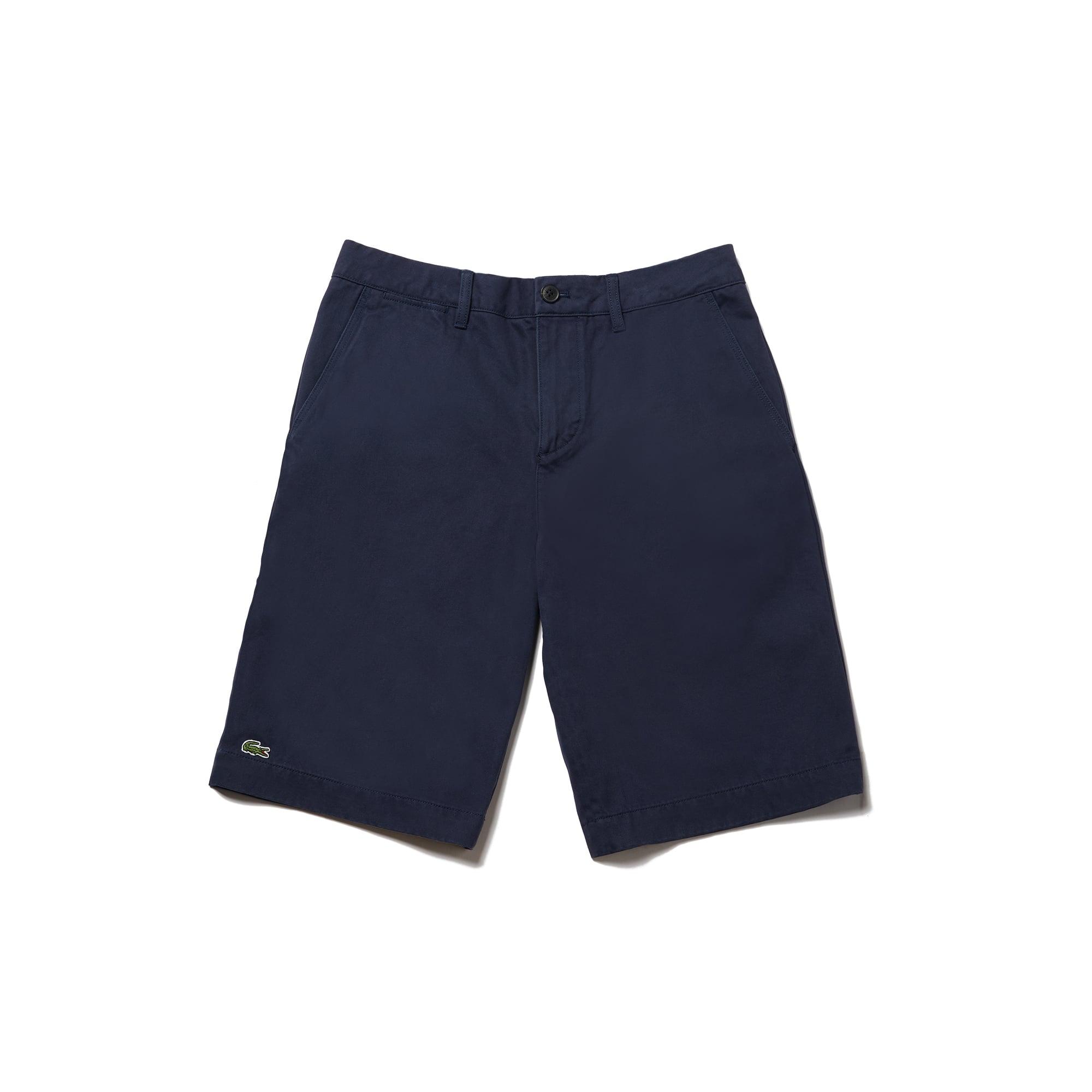 라코스테 Lacoste Mens Regular Fit Bermuda Shorts,navy blue