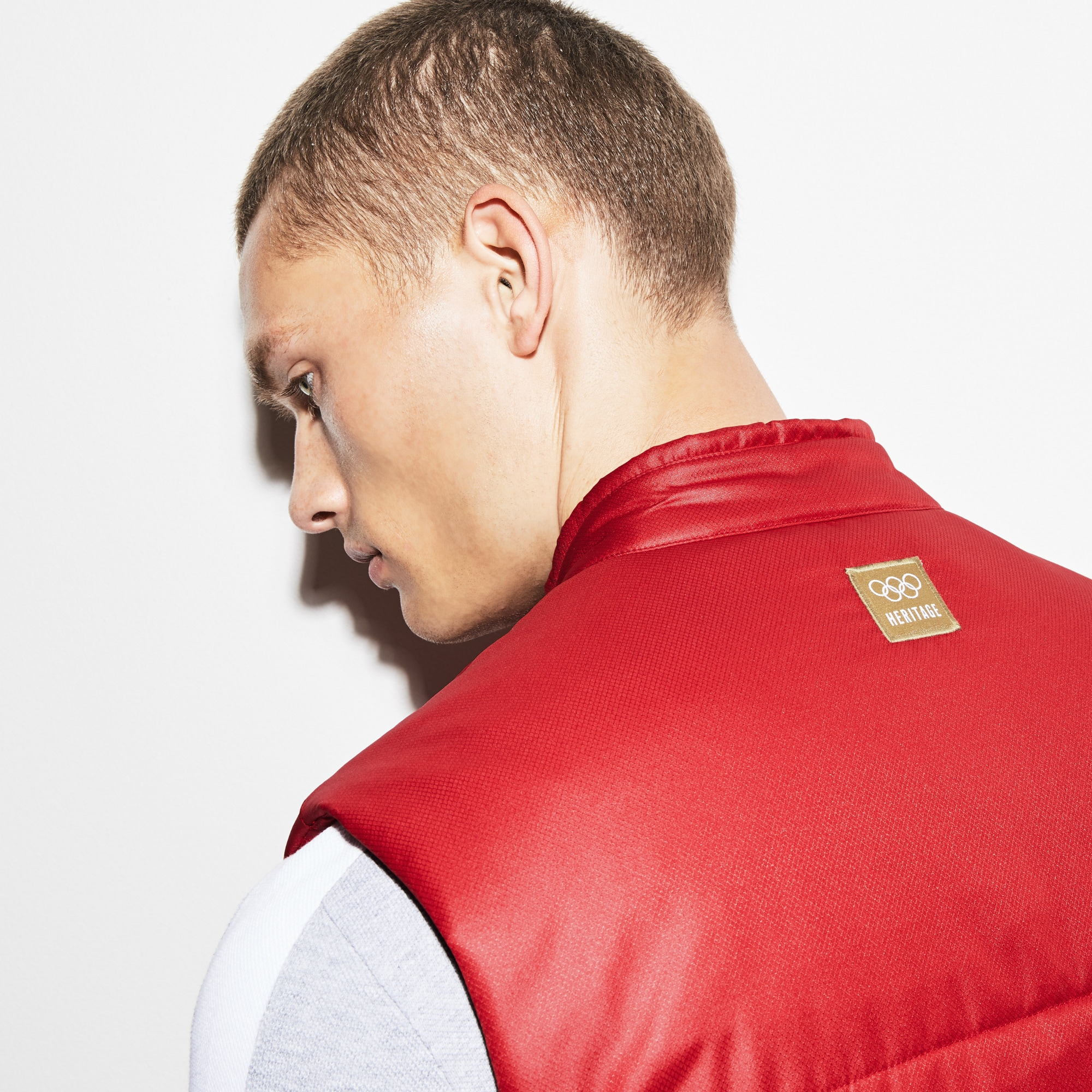 Olympic Heritage Collection by Lacoste Quilted Taffeta Vest