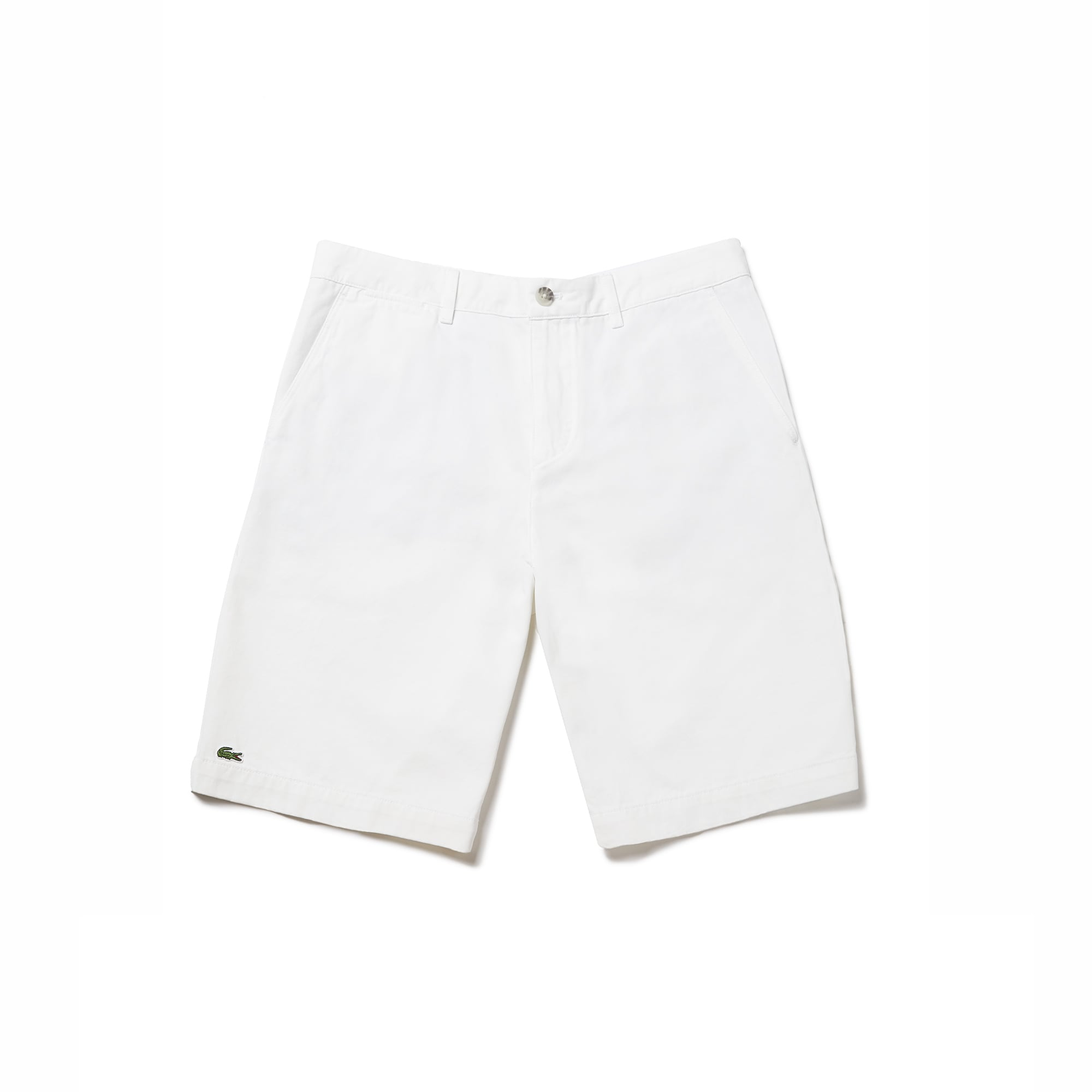 라코스테 반바지 Lacoste Mens Regular Fit Bermuda Shorts,white