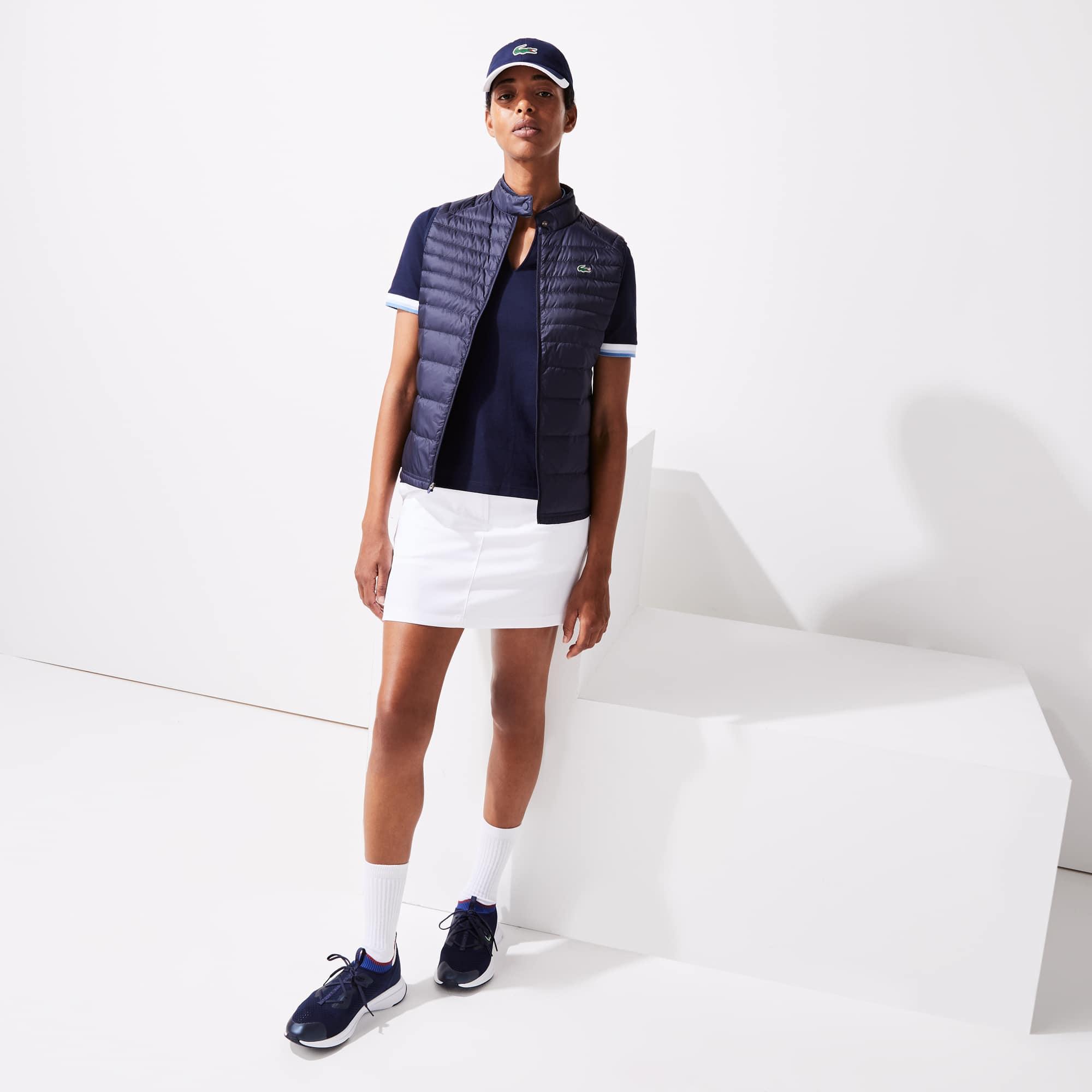 라코스테 스포츠 테크니컬 퀼팅 골프 조끼 - 네이비 Lacoste Womens SPORT Water-Resistant Quilted Technical Golf Vest
