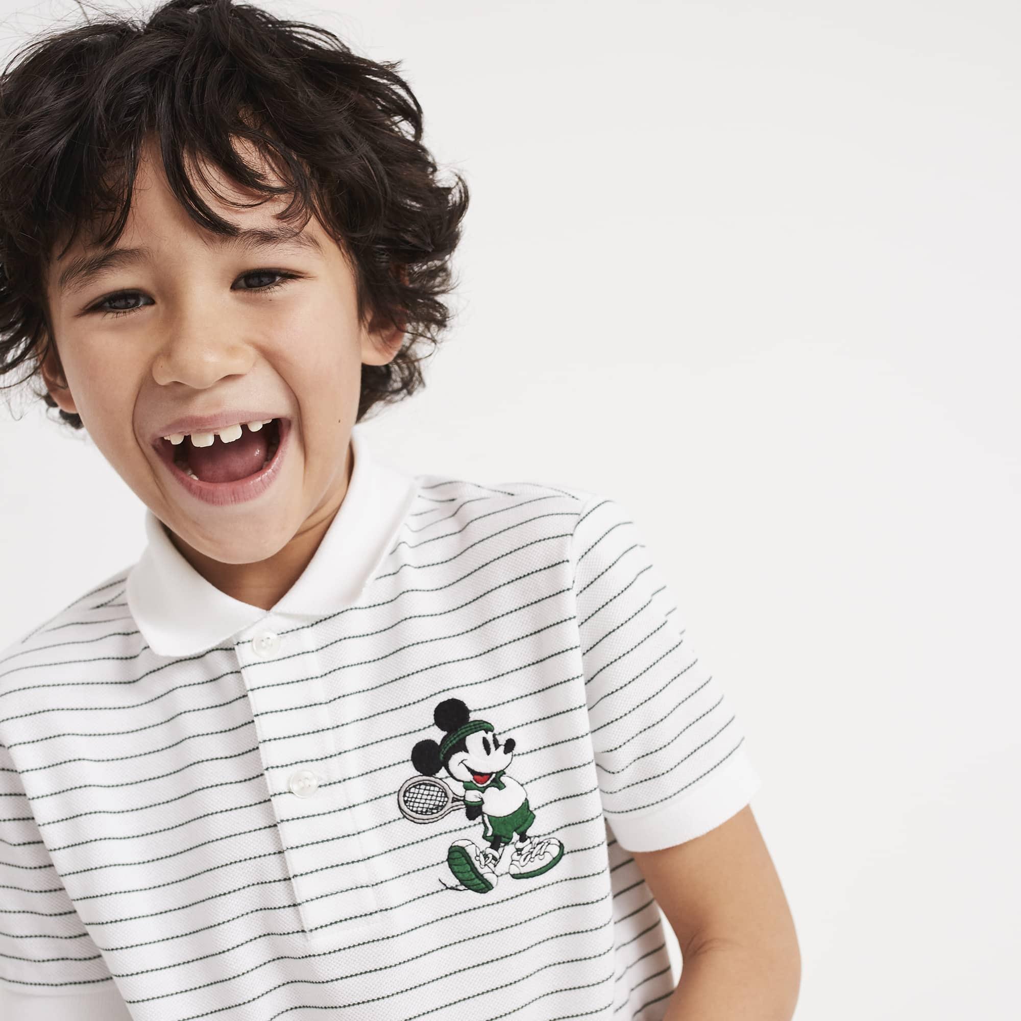 Boys' Lacoste Disney Mickey Petit Piqué Polo