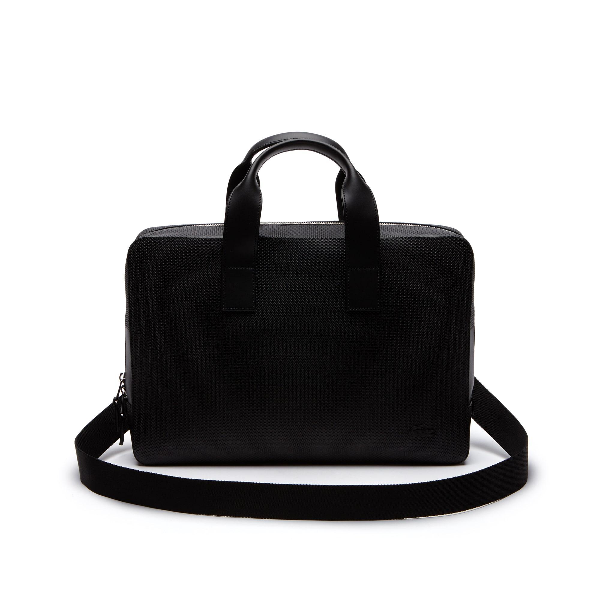Men's Chantaco Monochrome Coated Leather Computer Bag